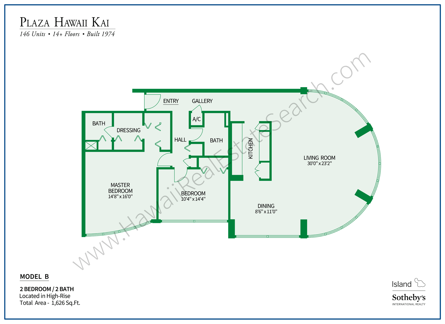 Plaza Hawaii Kai Floor Plan B
