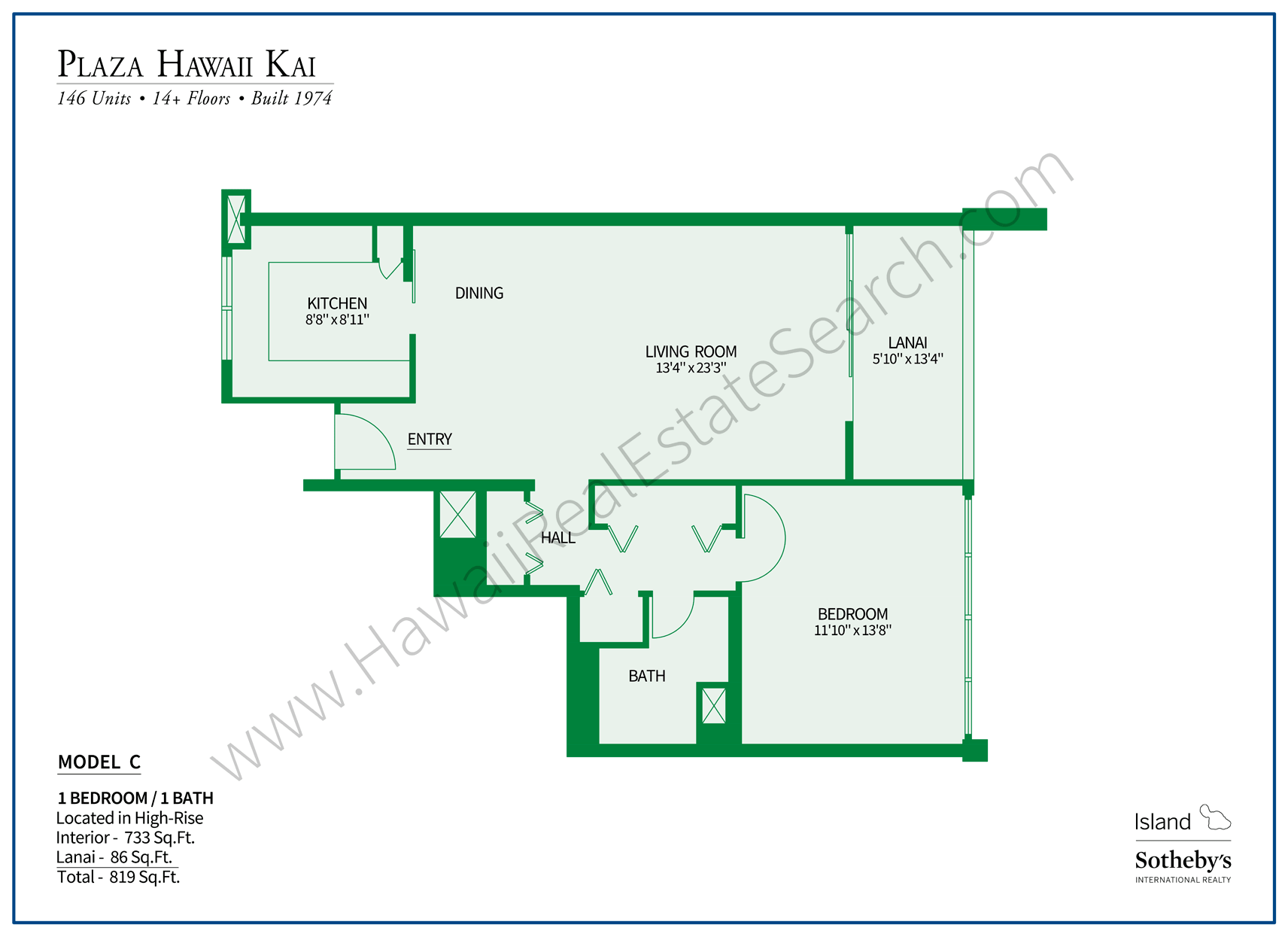 Plaza Hawaii Kai Floor Plan C