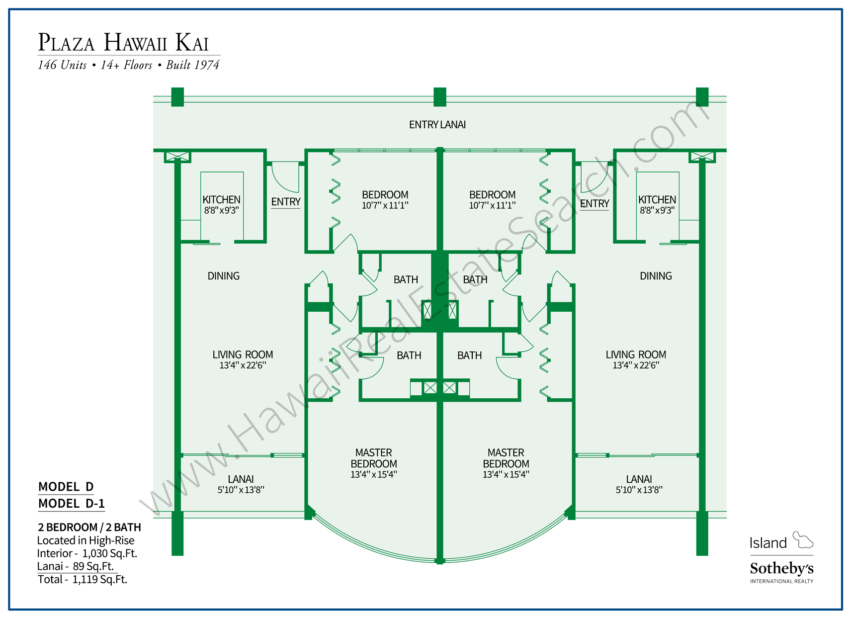 Plaza Hawaii Kai Floor Plan D