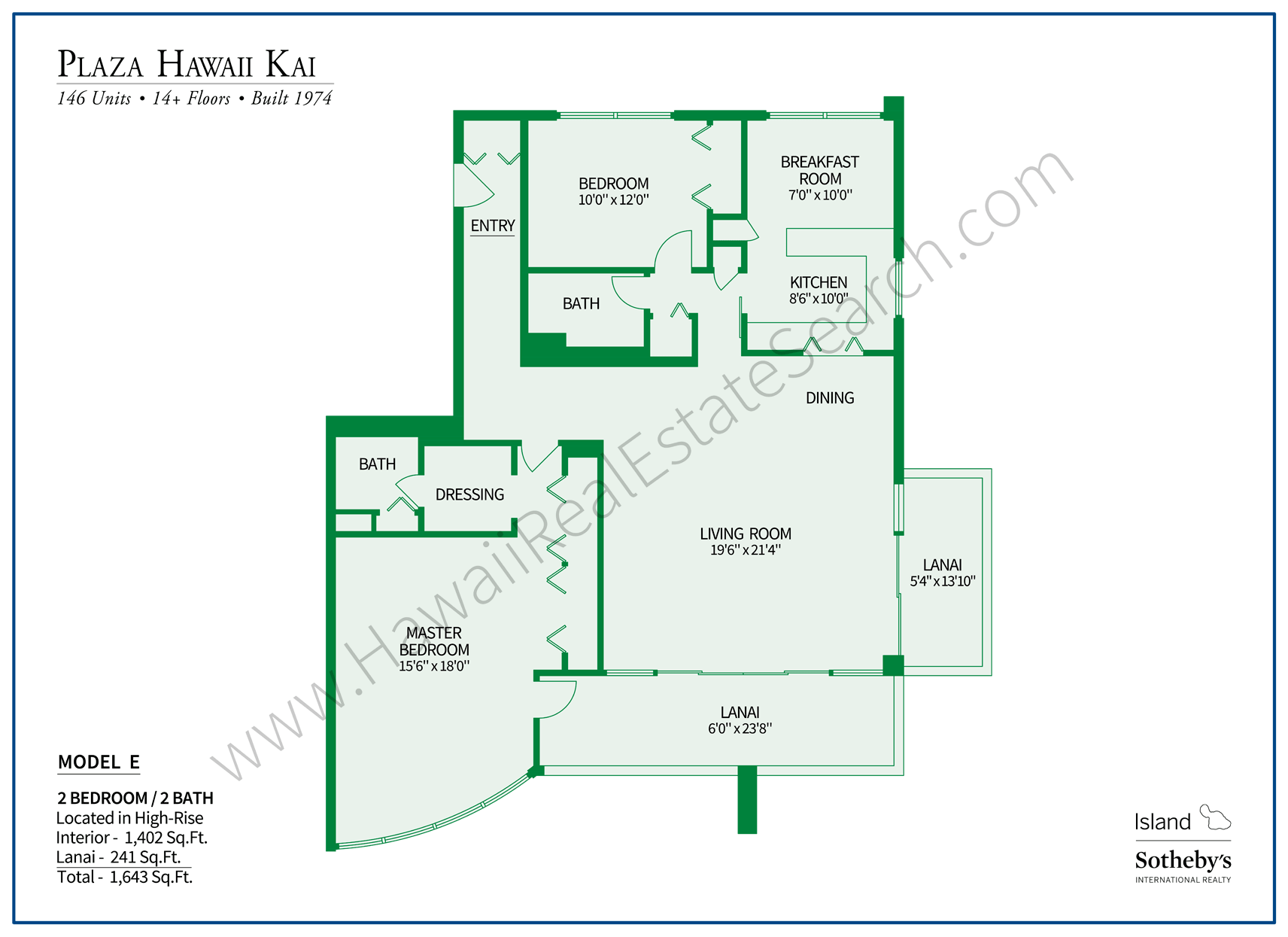 Plaza Hawaii Kai Floor Plan E