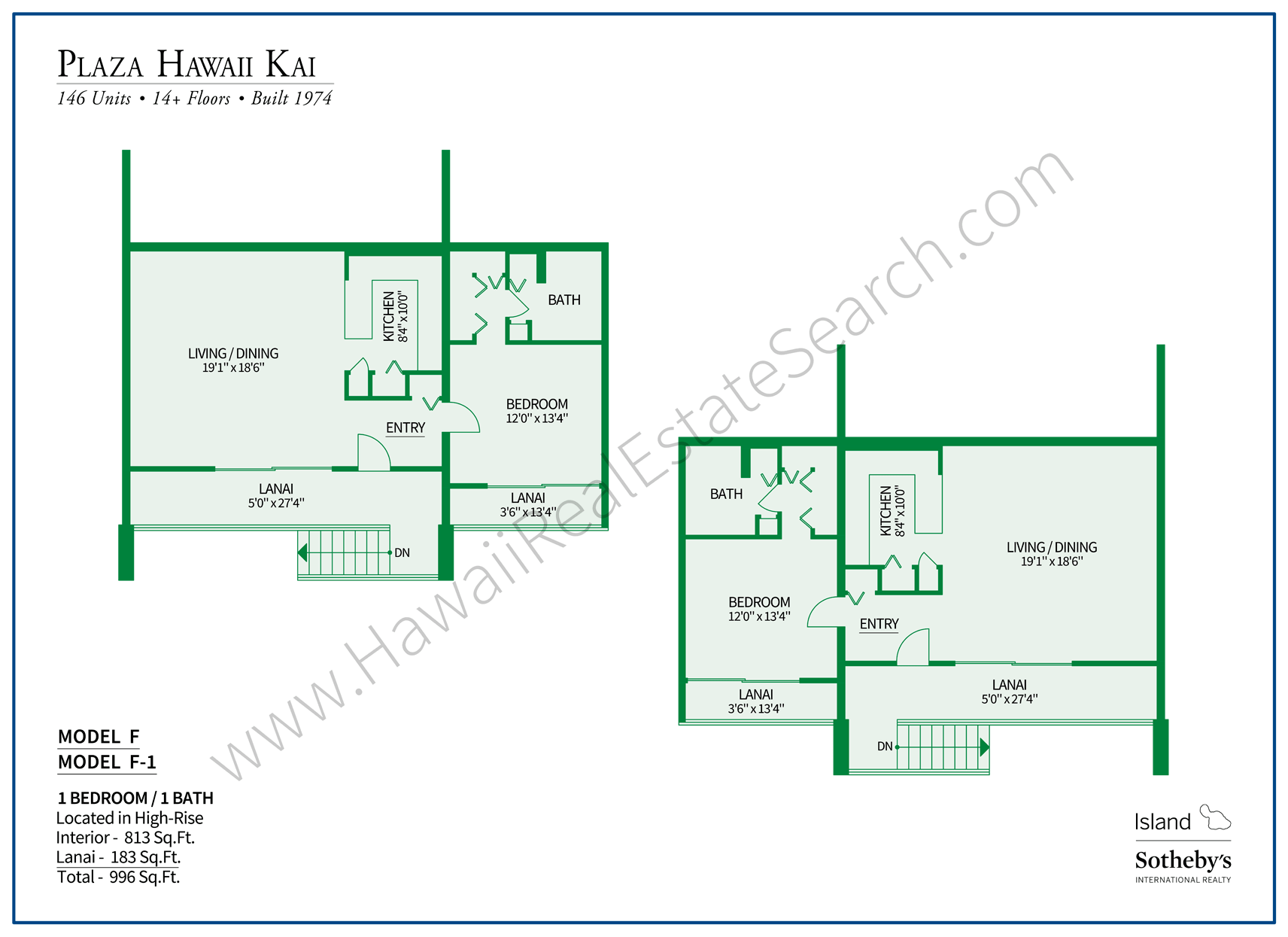 Plaza Hawaii Kai Floor Plan F