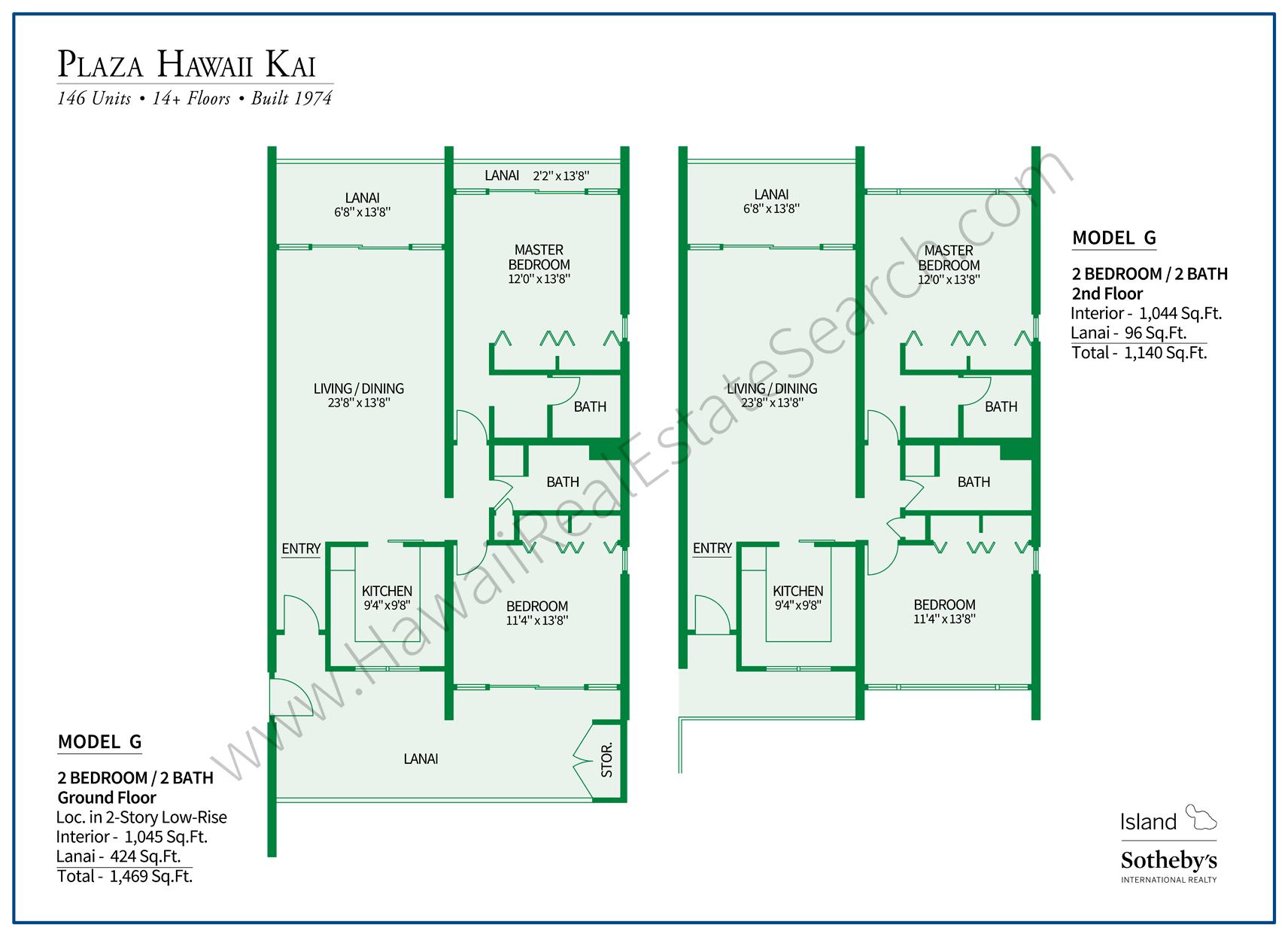Plaza Hawaii Kai Floor Plan G