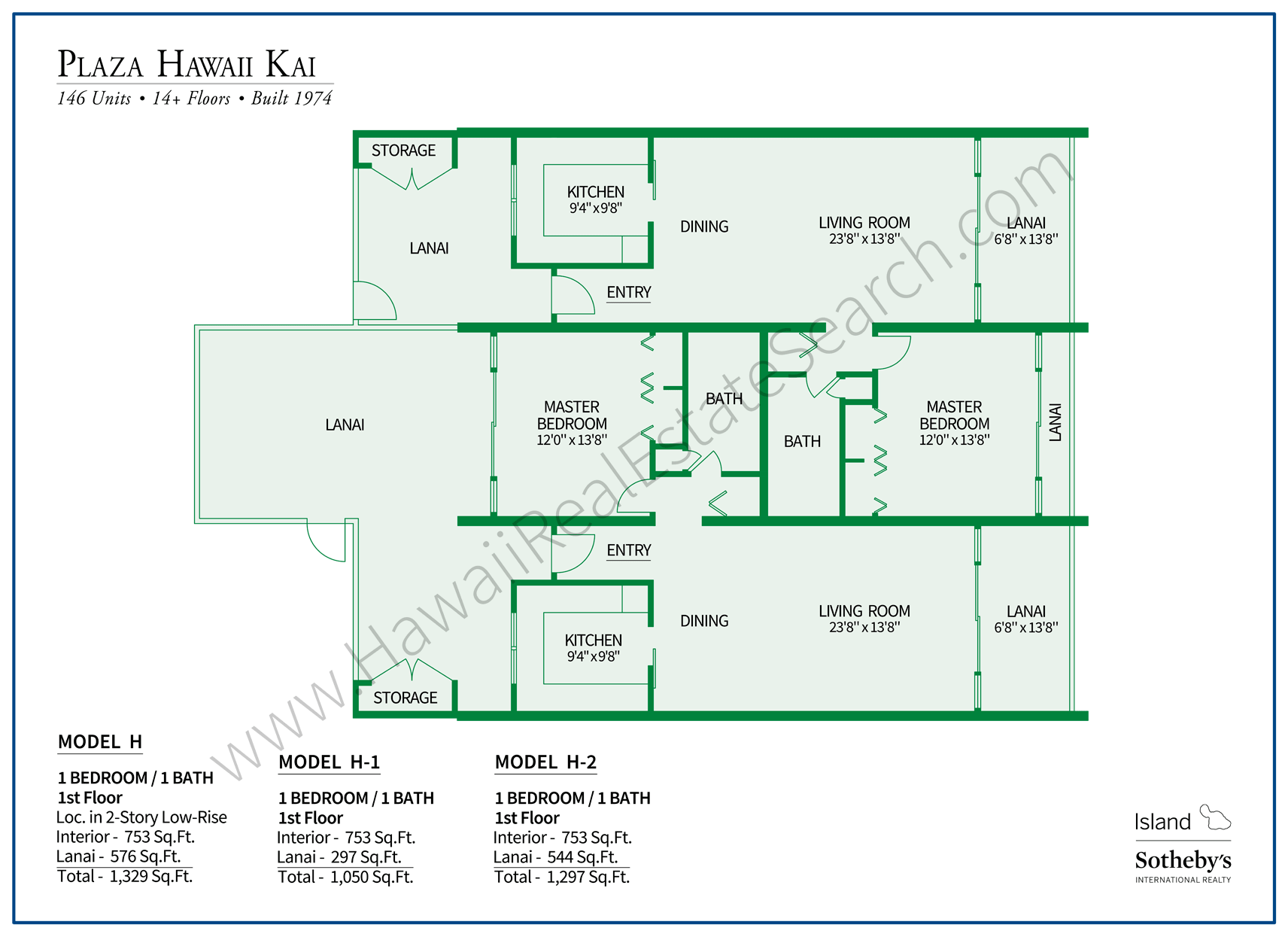 Plaza Hawaii Kai Floor Plan H