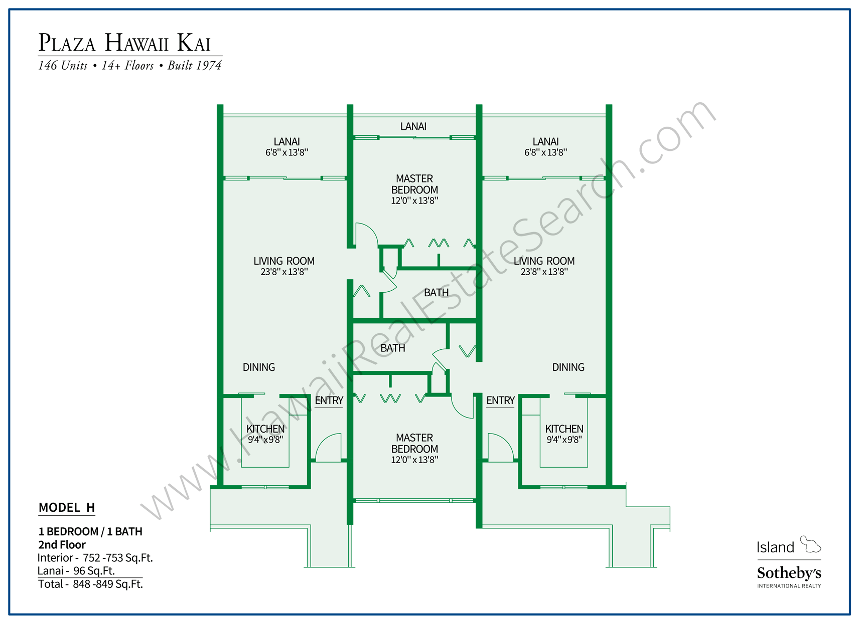 Plaza Hawaii Kai Floor Plan HH