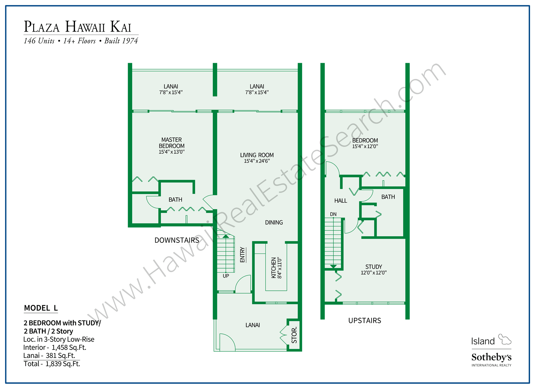 Plaza Hawaii Kai Floor Plan L
