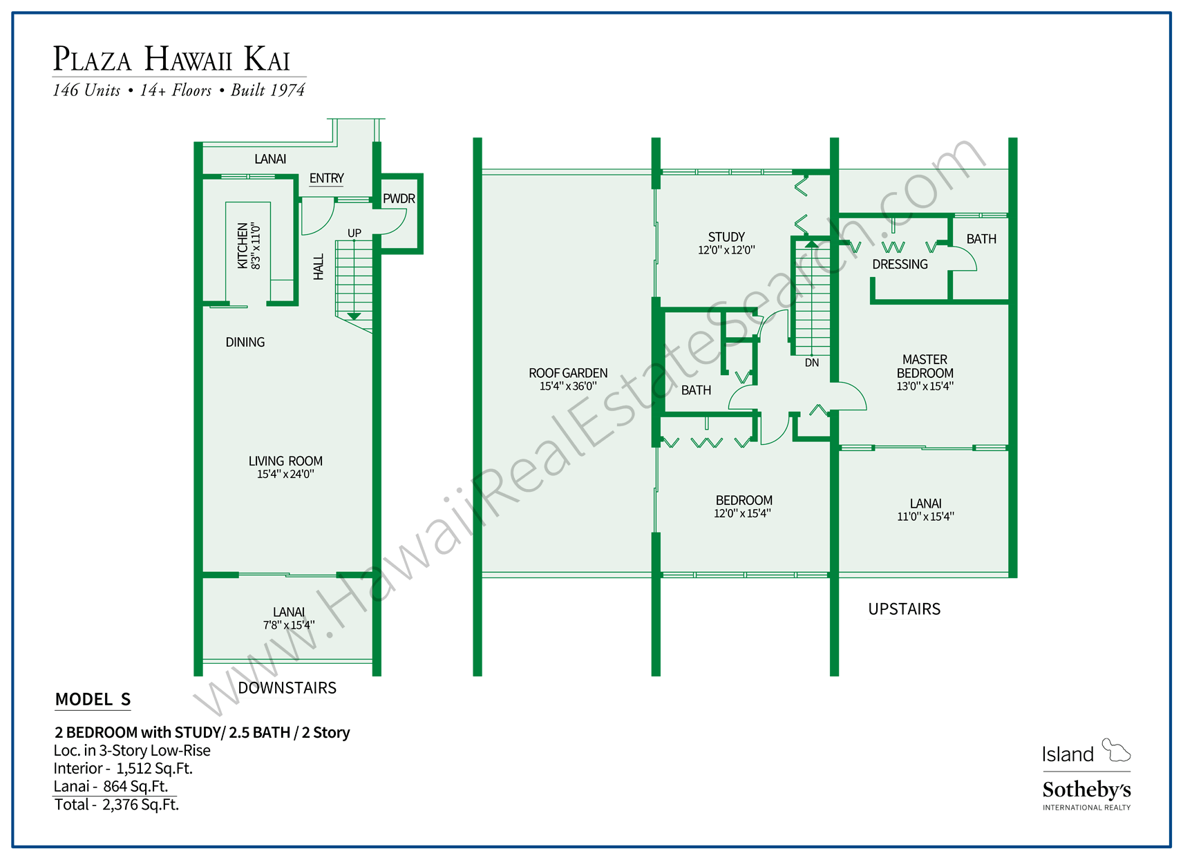 Plaza Hawaii Kai Floor Plan S