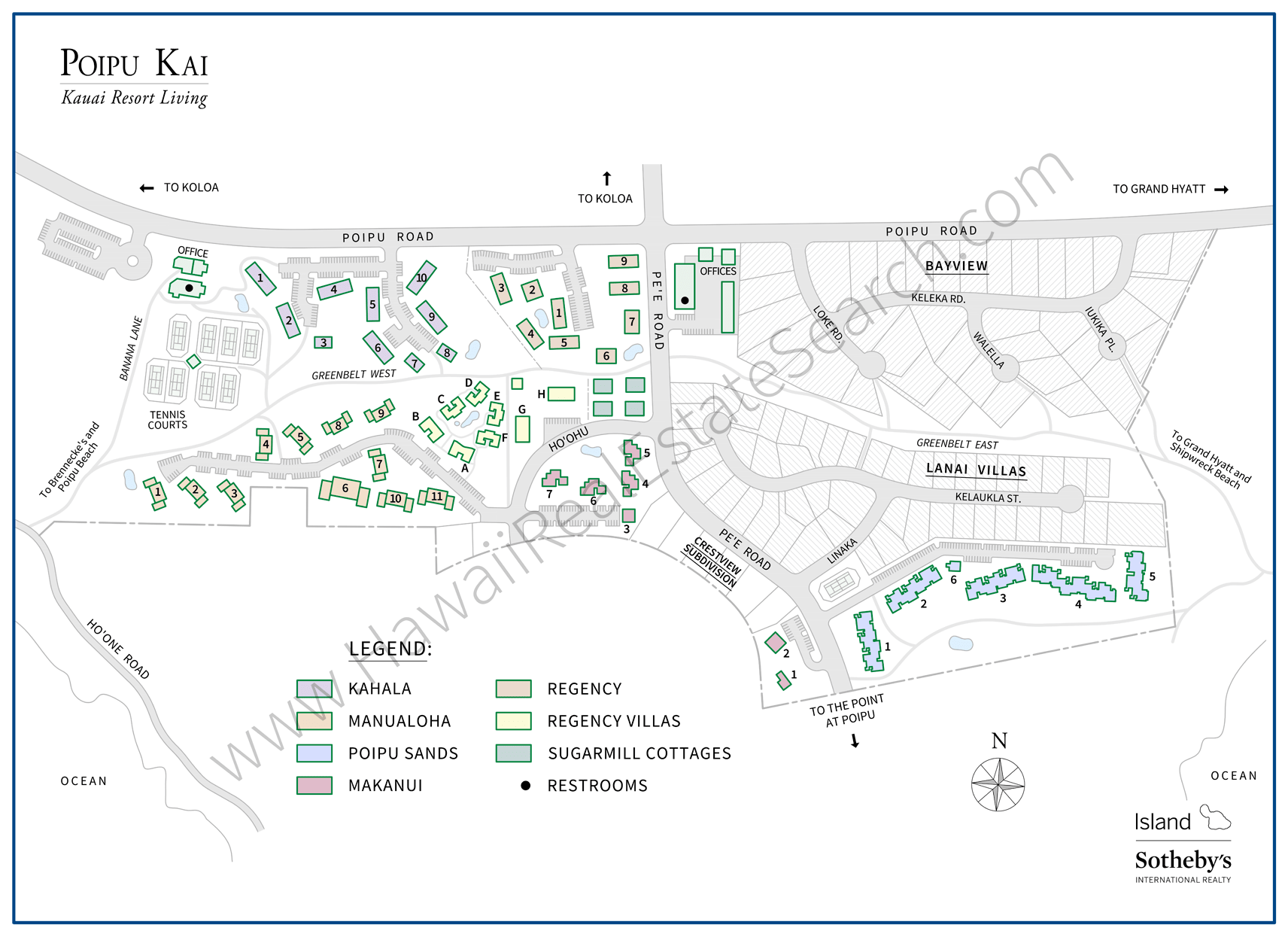Poipu Kai Resort Map Updated