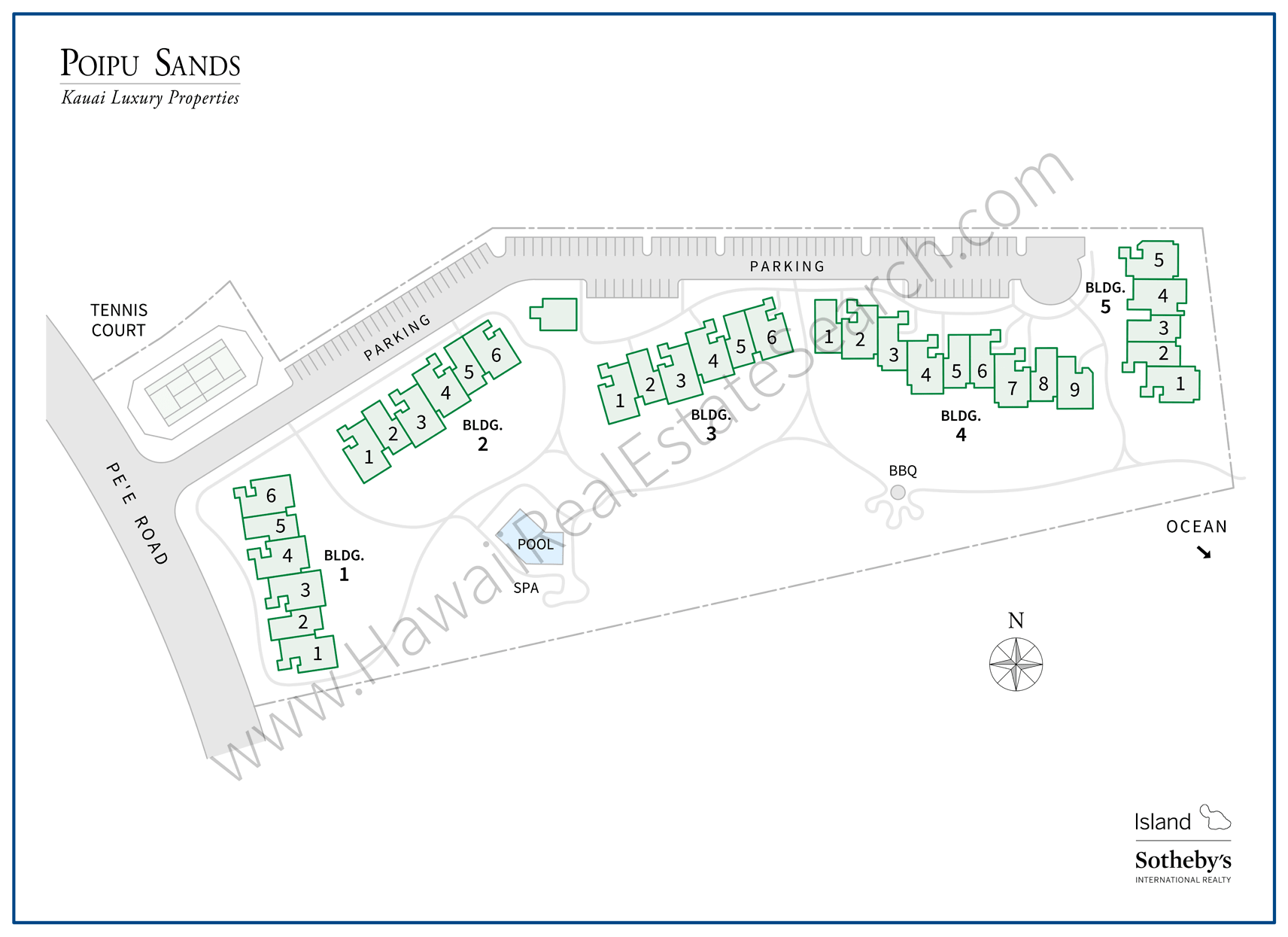 Poipu Sands Map