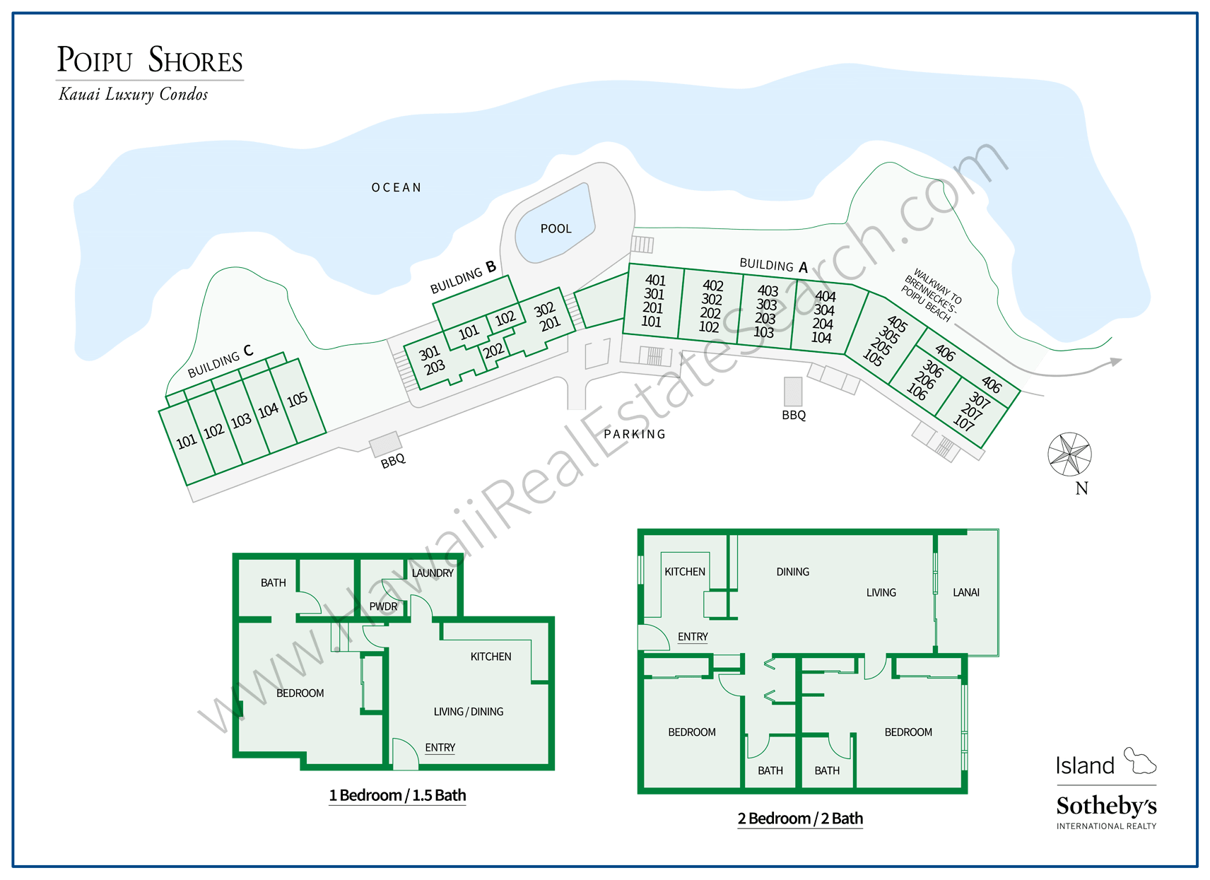 Poipu Shores Property Map
