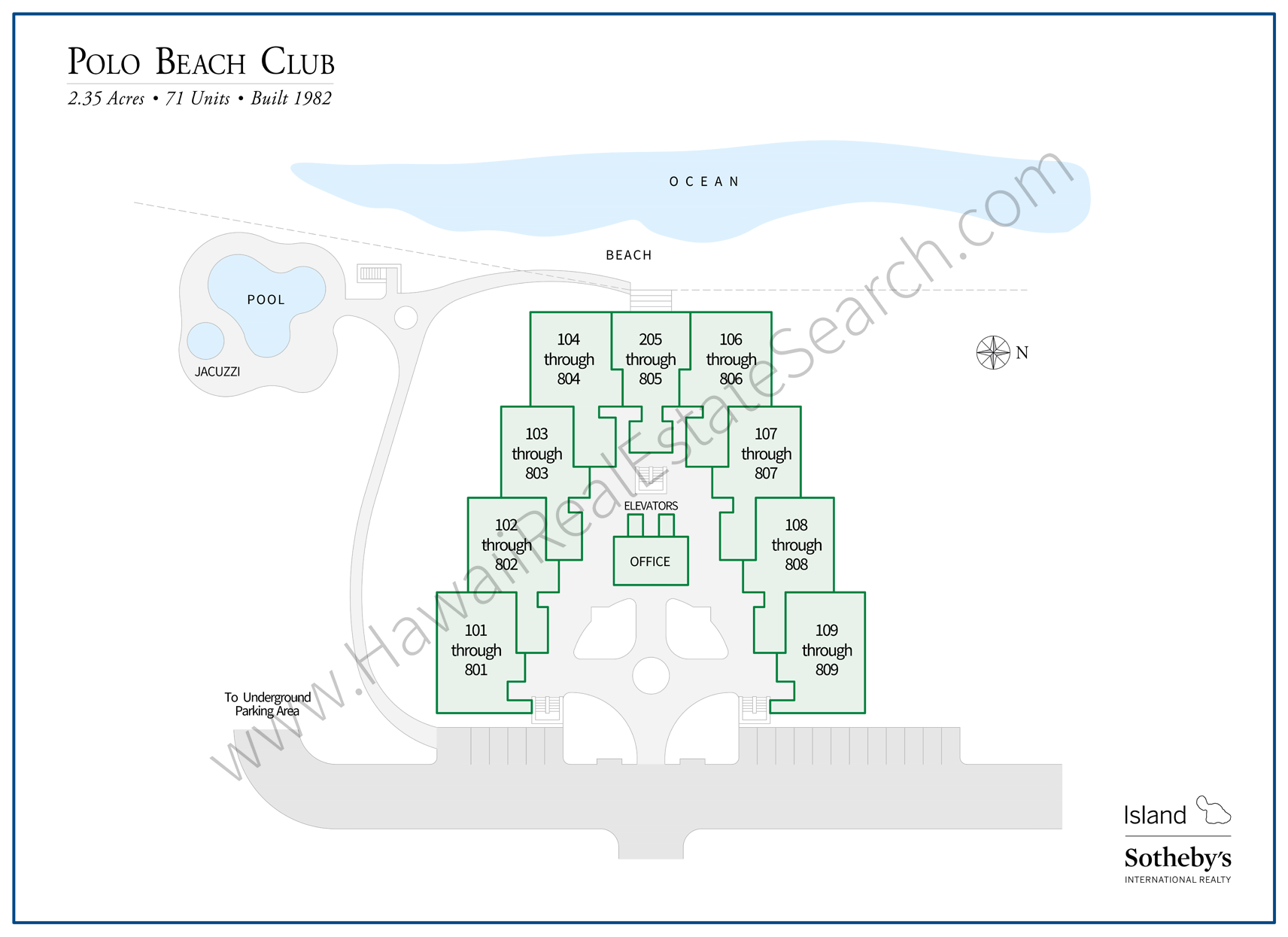 Polo Beach Club Map Wailea Makena