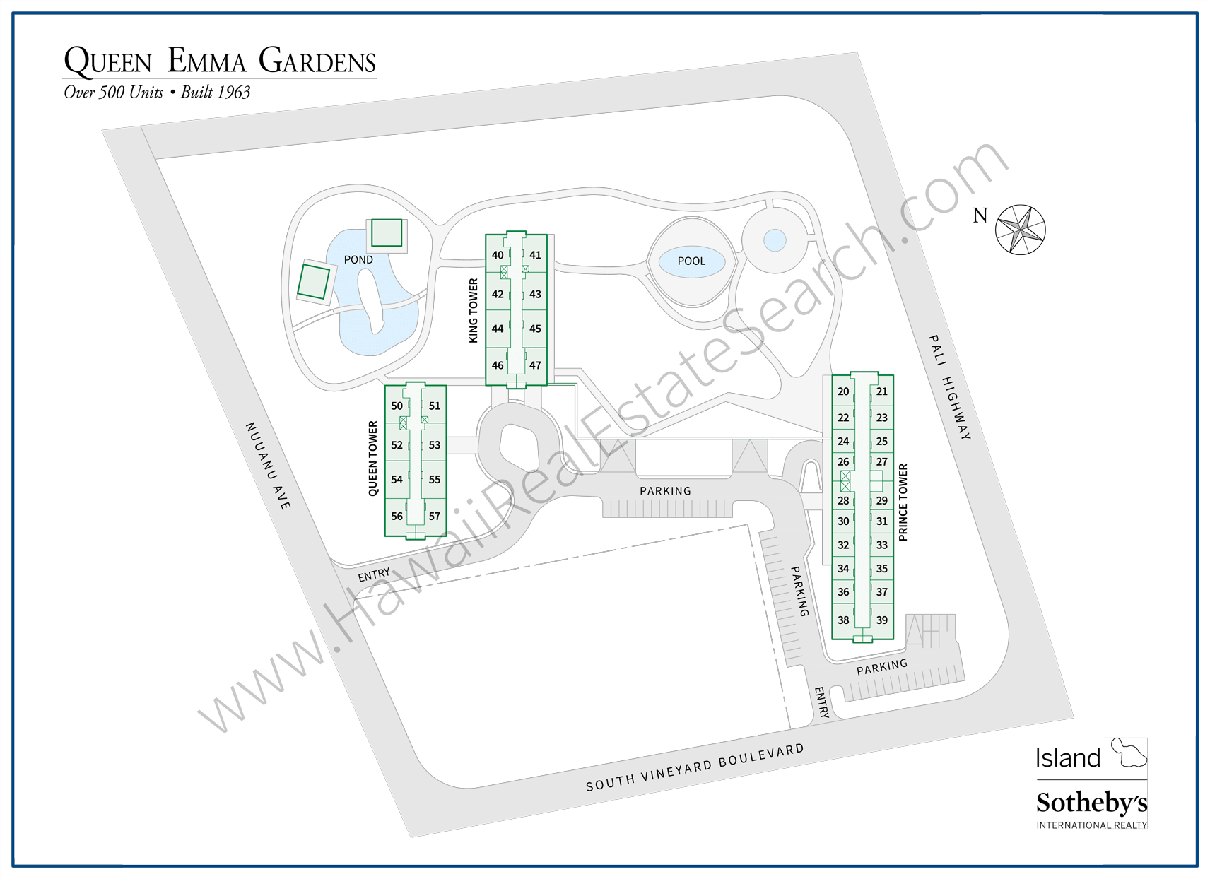 Queen Emma Gardens Map