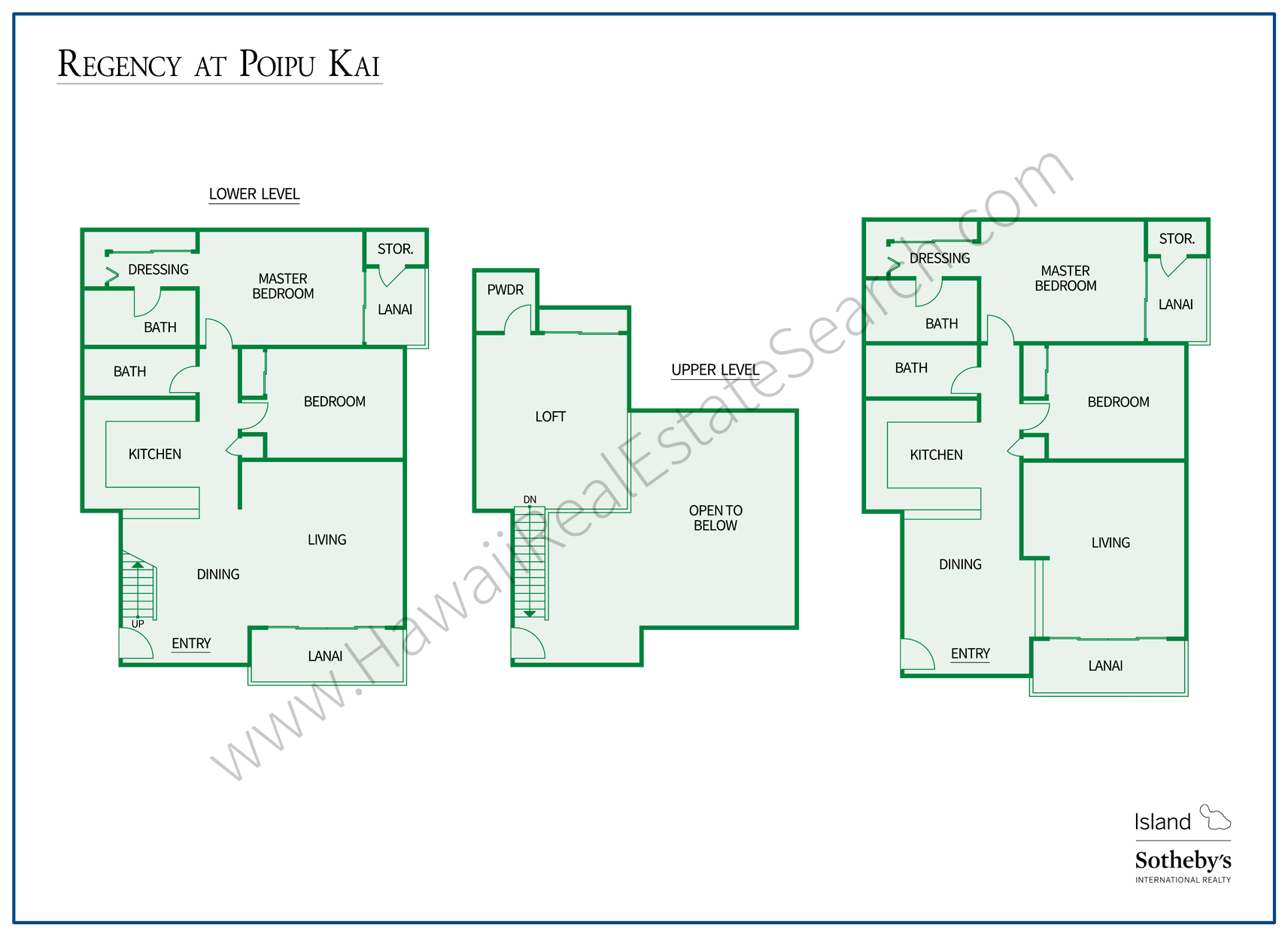 Regency at Poipu Kai Floorplan