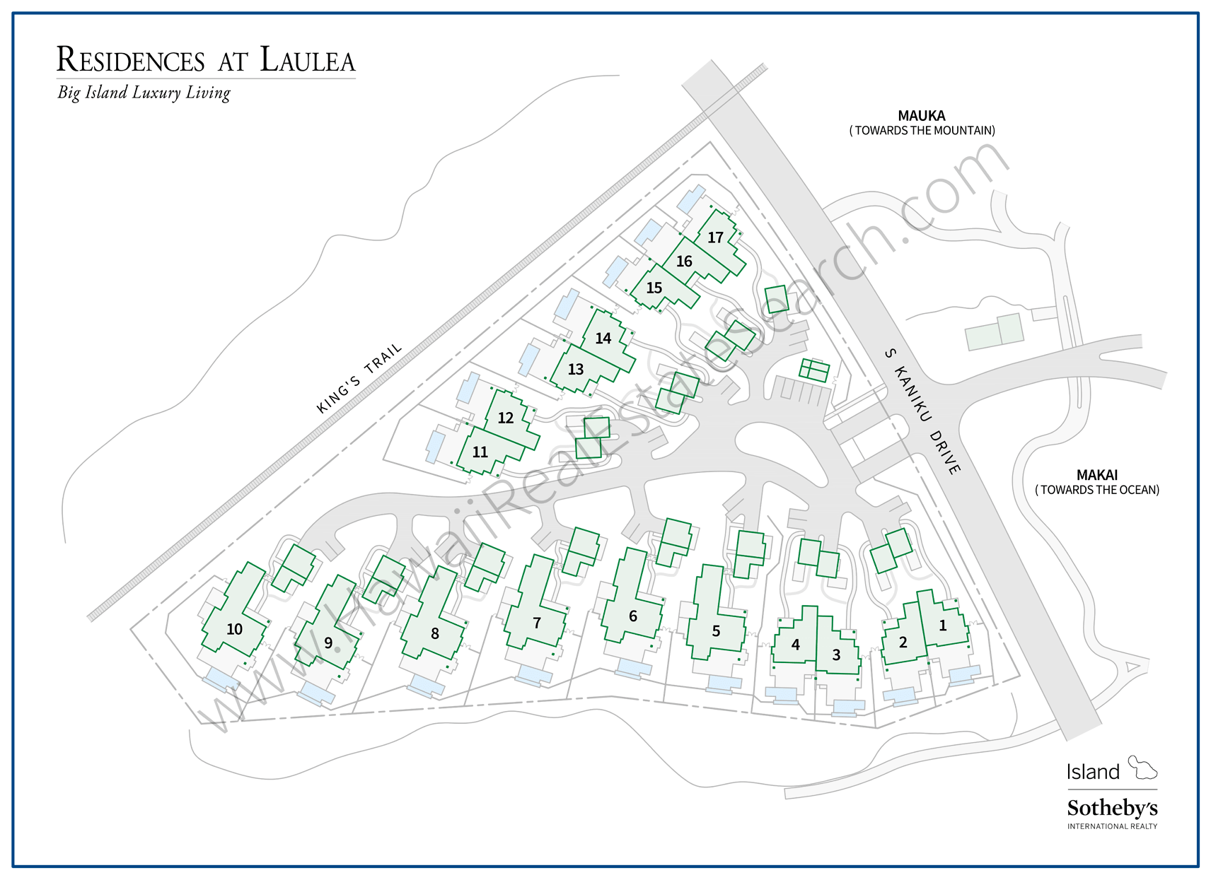 Residences of Laulea Subdivision Map