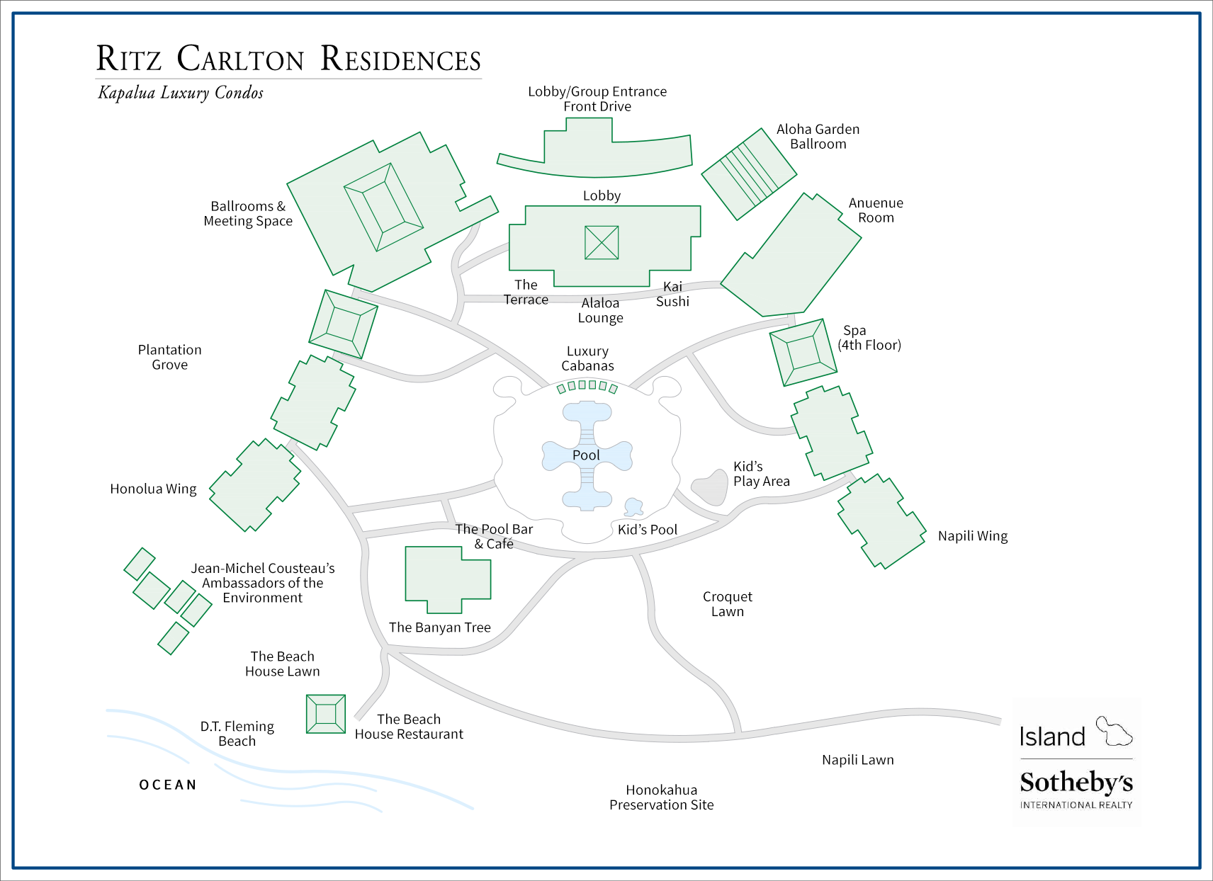 Ritz Kapalua Site Map