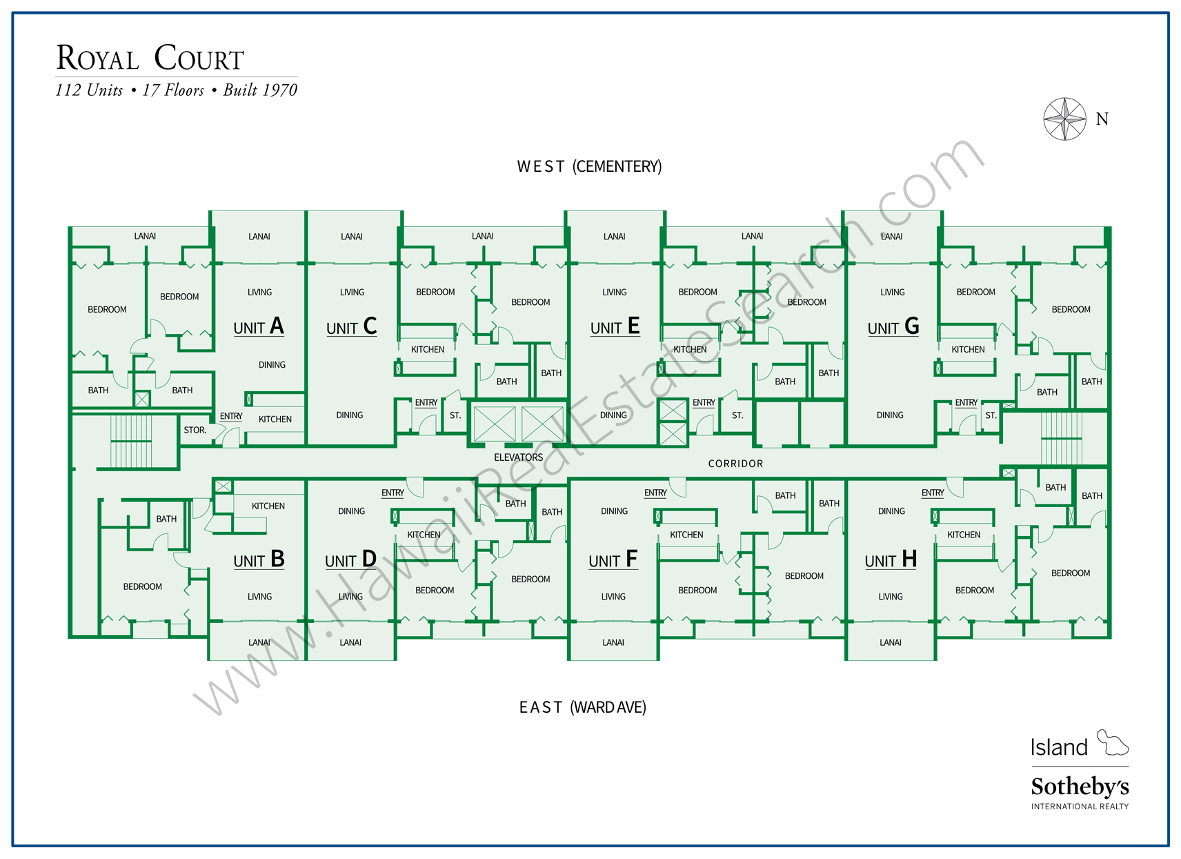 Royal Court Oahu Condo Map
