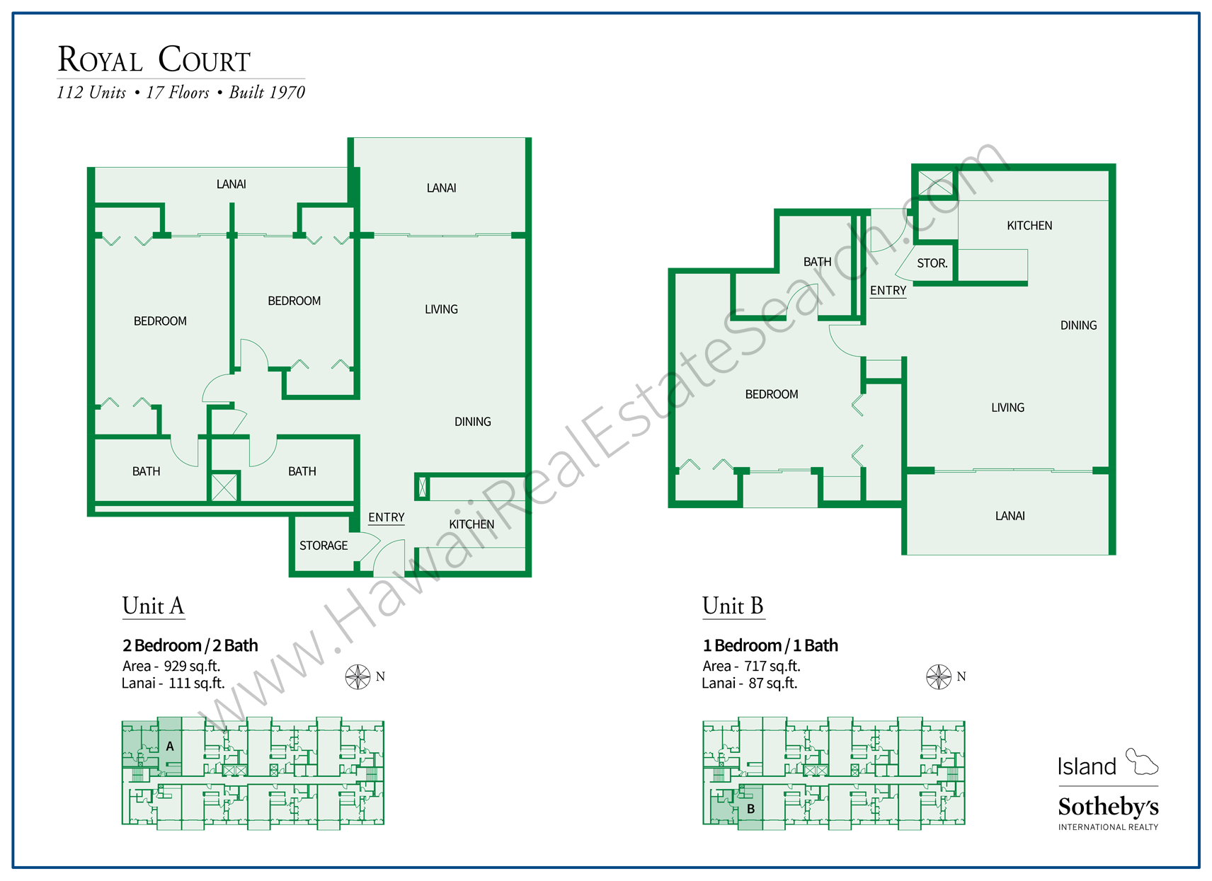 Royal Court Hawaii Floor Plan