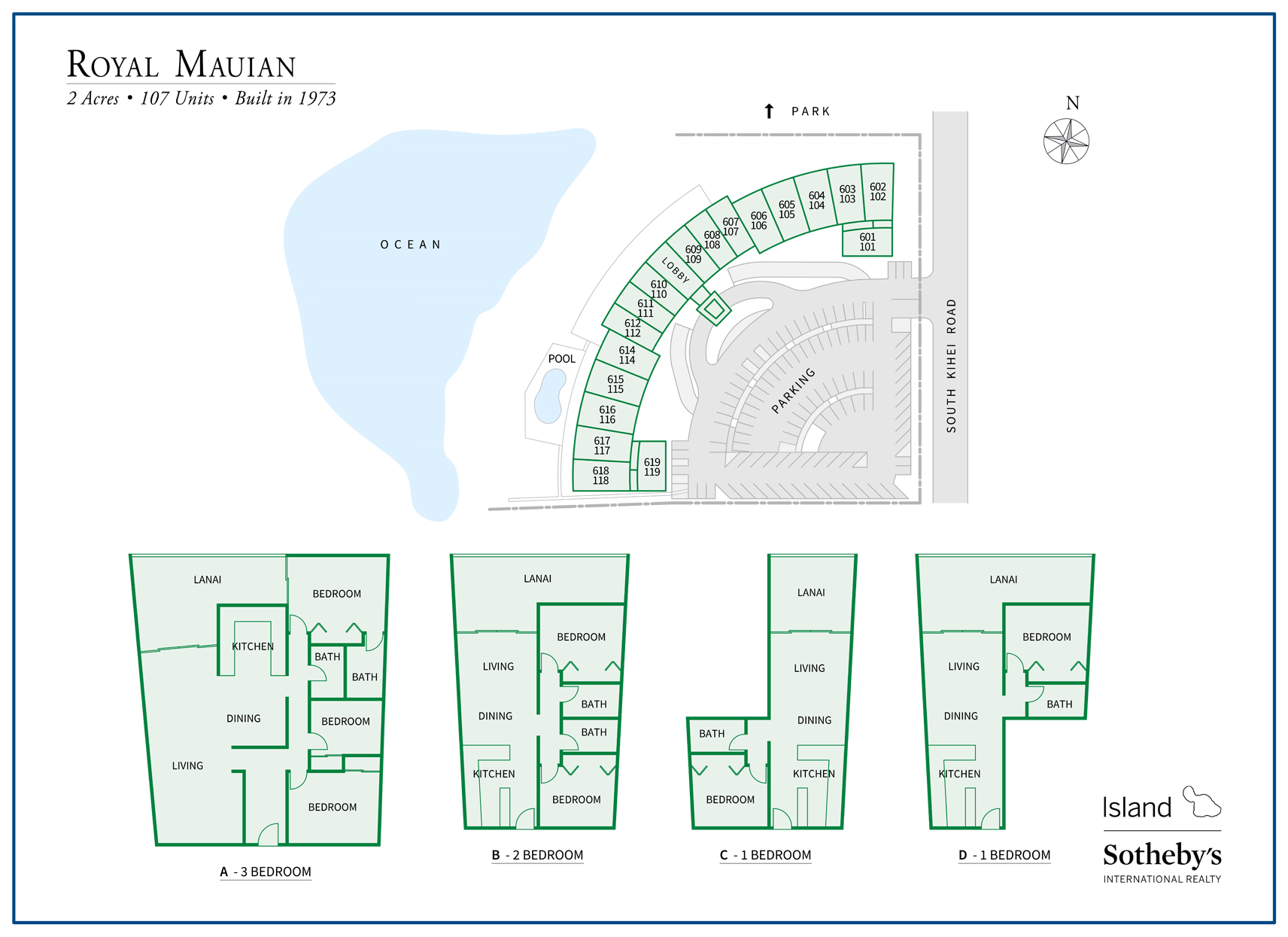 royal mauian floor plans and map