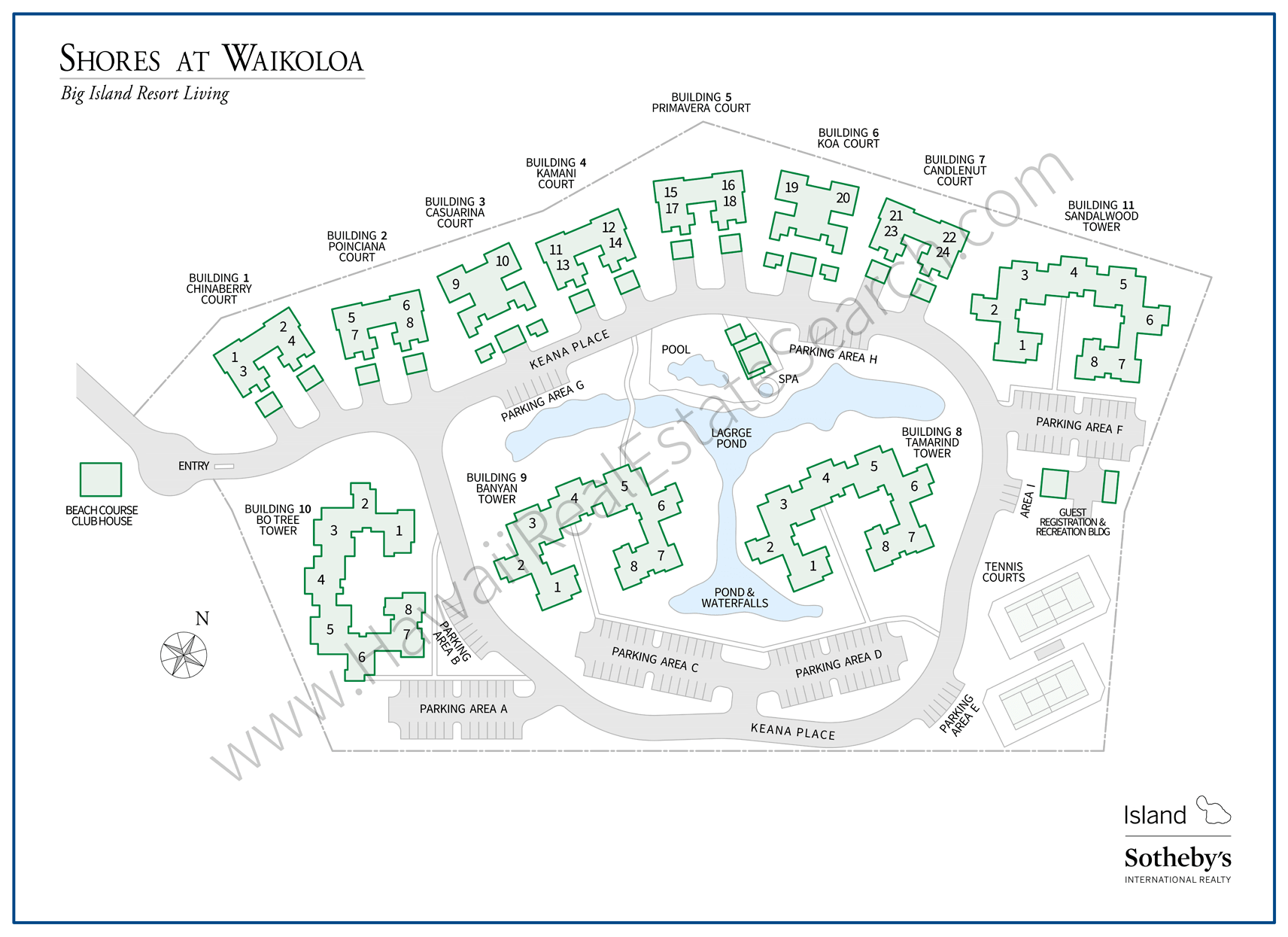 Shores at Waikoloa Property Map Updated
