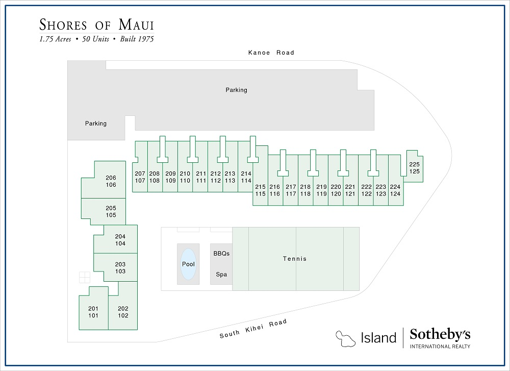 shores of maui condo map