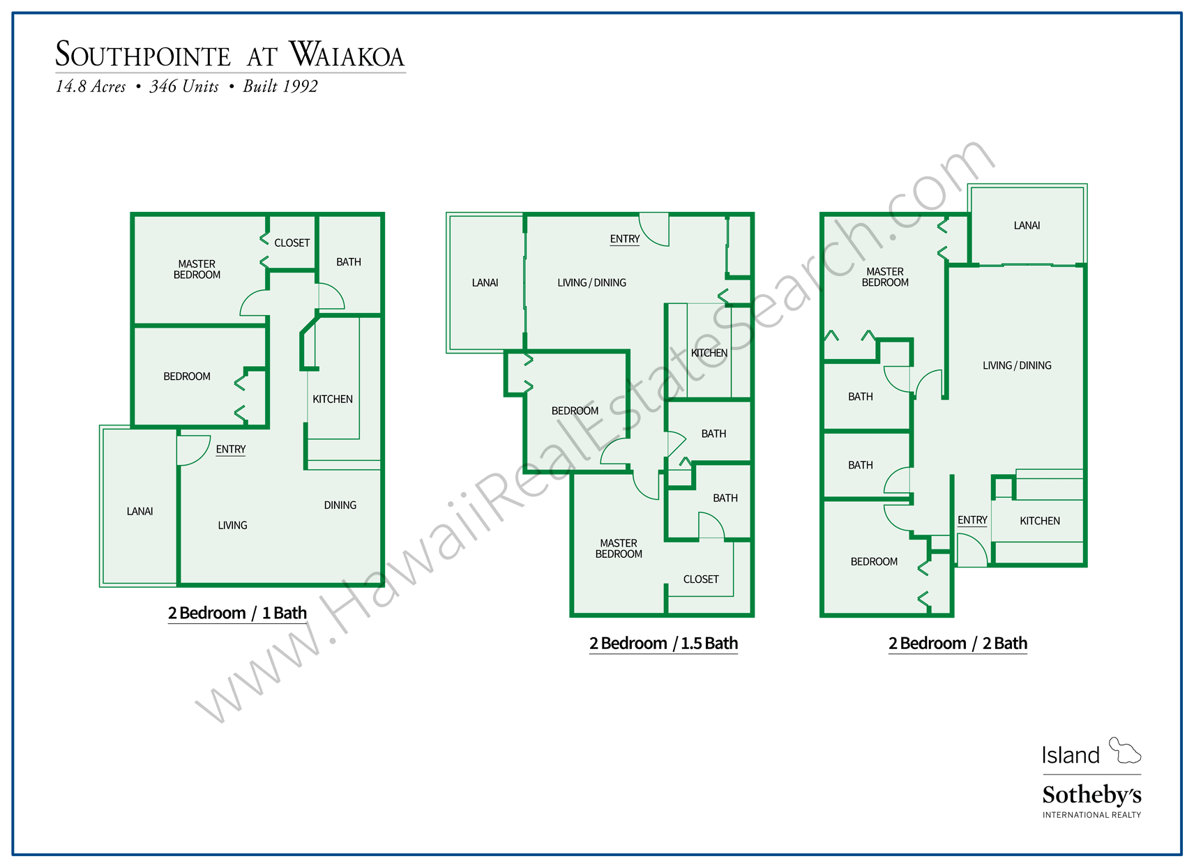 Southpointe Floor Plans Kihei