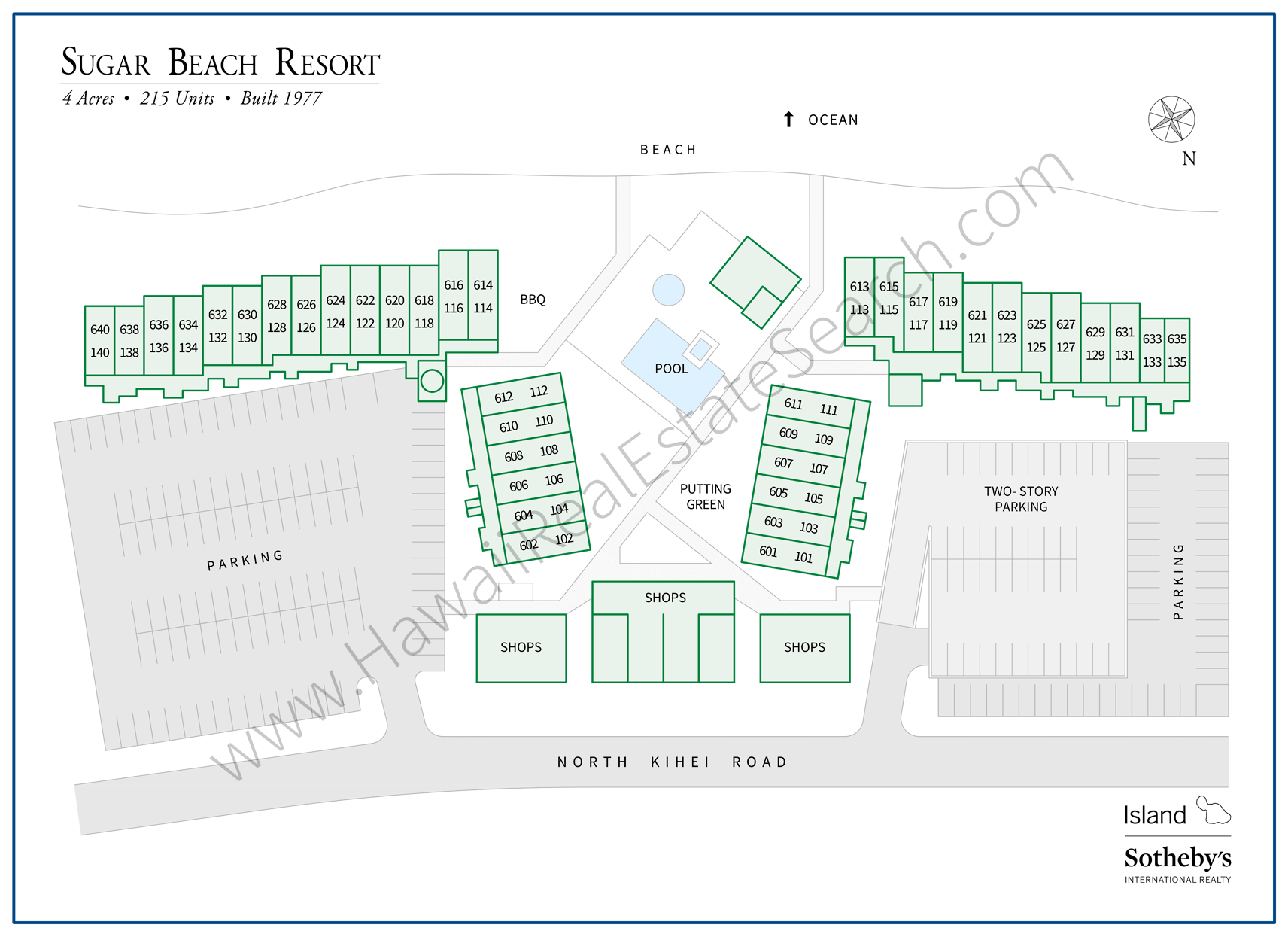 Sugar Beach Resort Map 2018 Updated