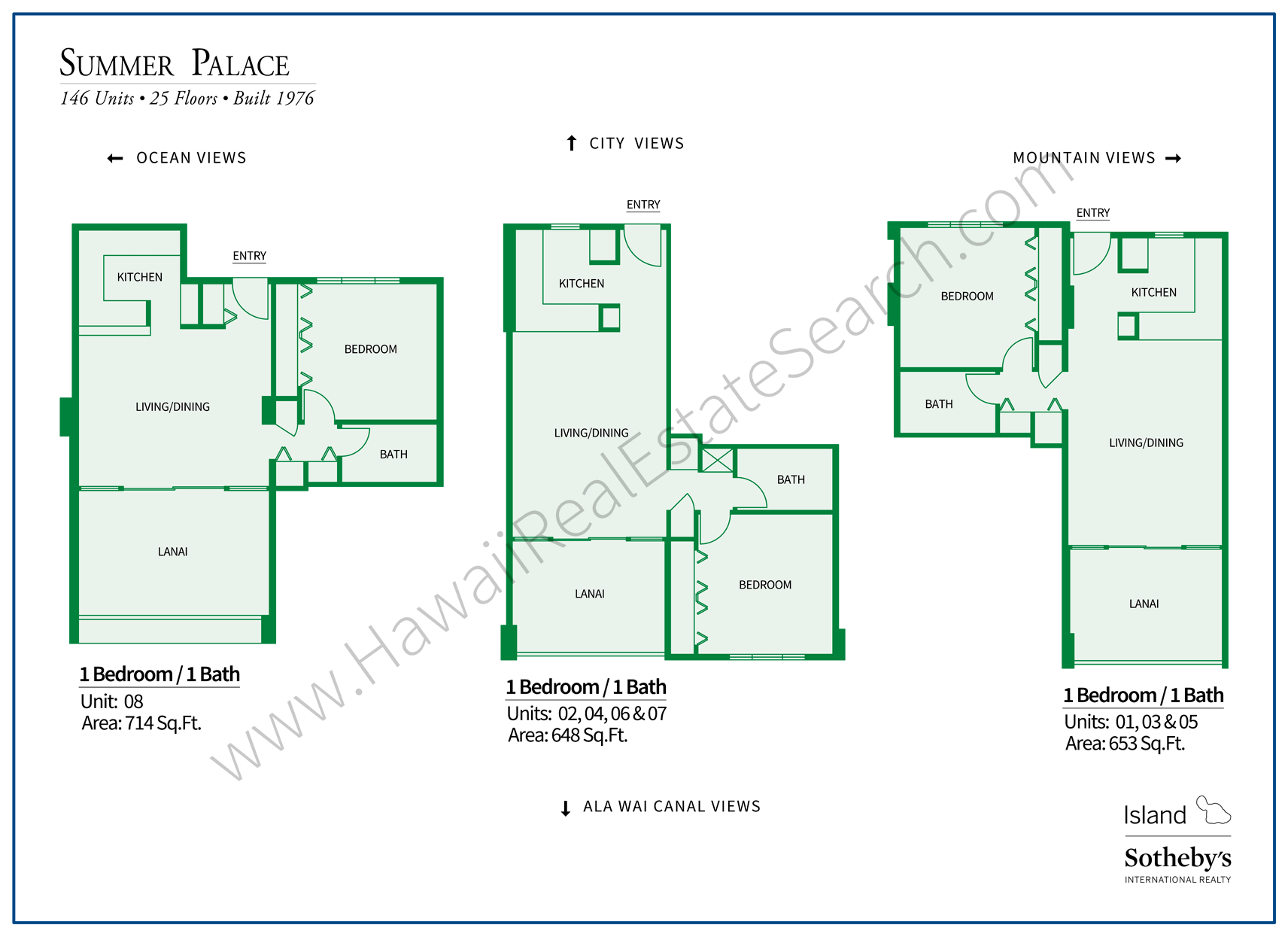 Summer Palace Floor Plans 2018