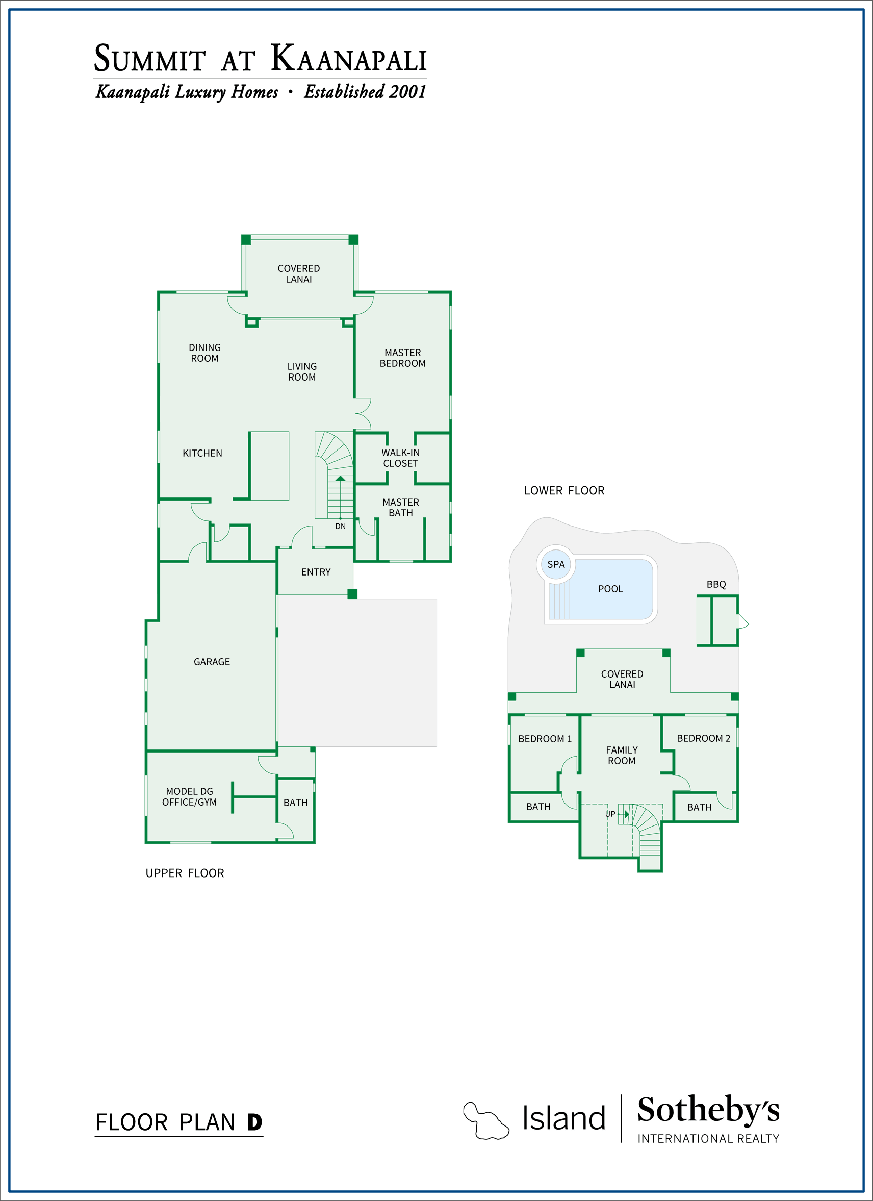 floorplans for summit at kaanapali property