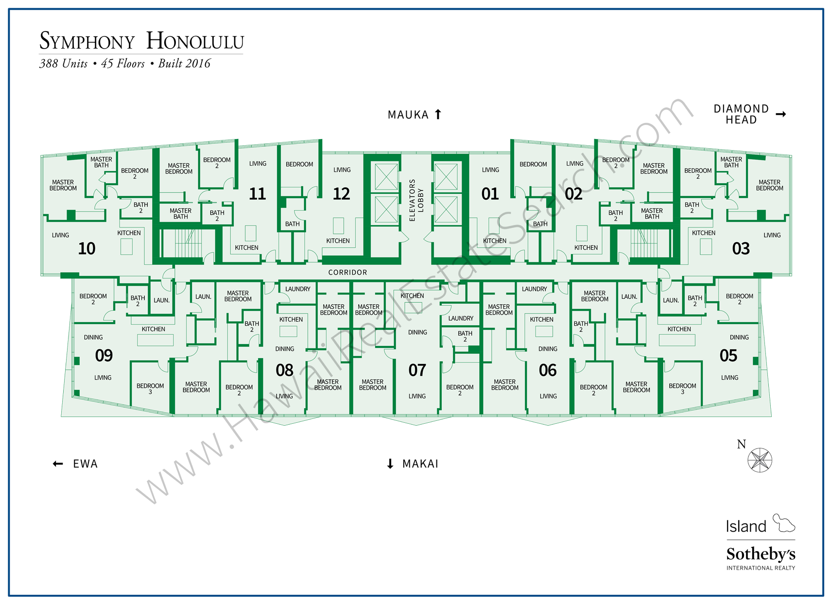 Symphony Honolulu Map