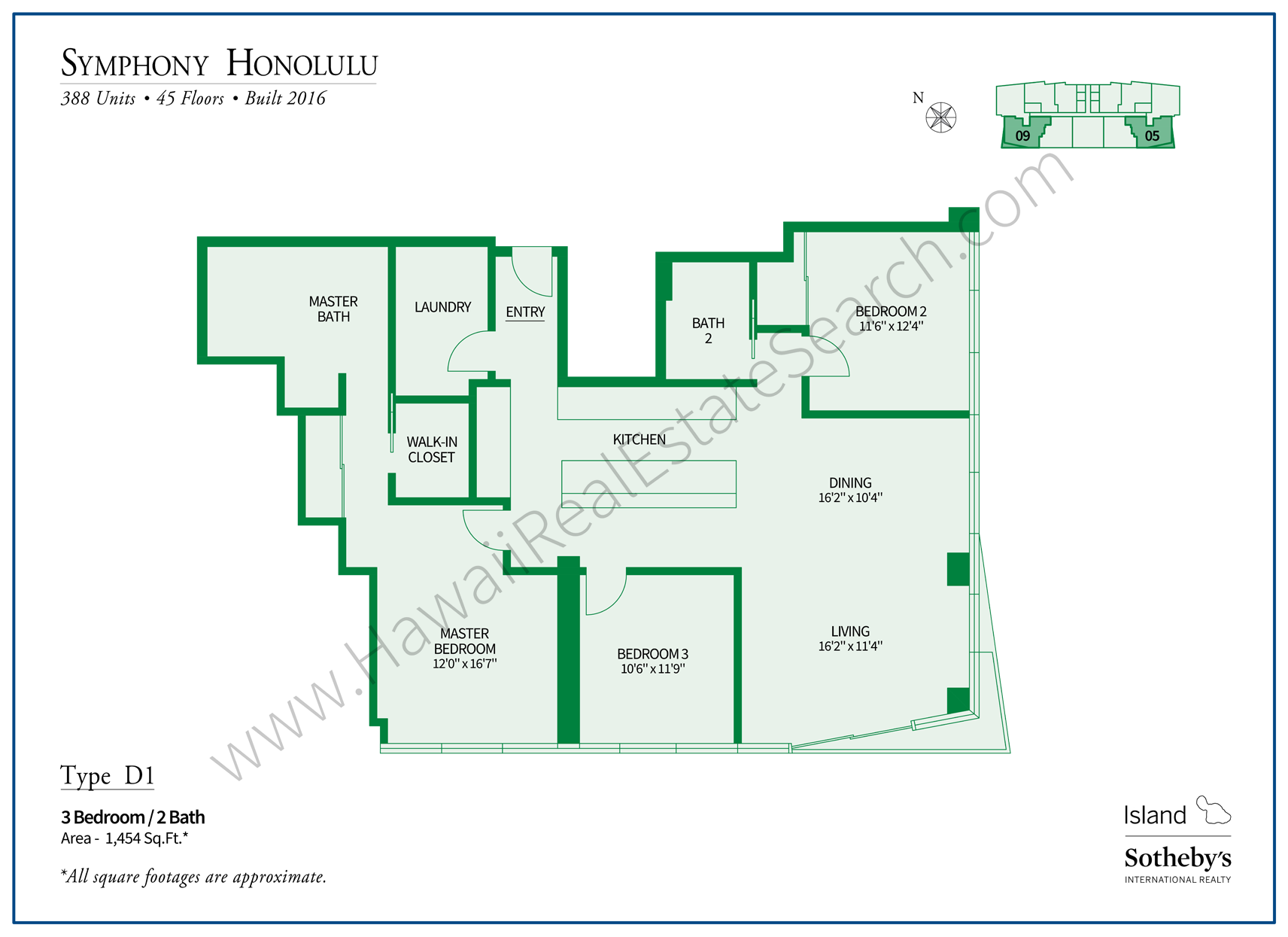 Symphony Honolulu Floor Plan D