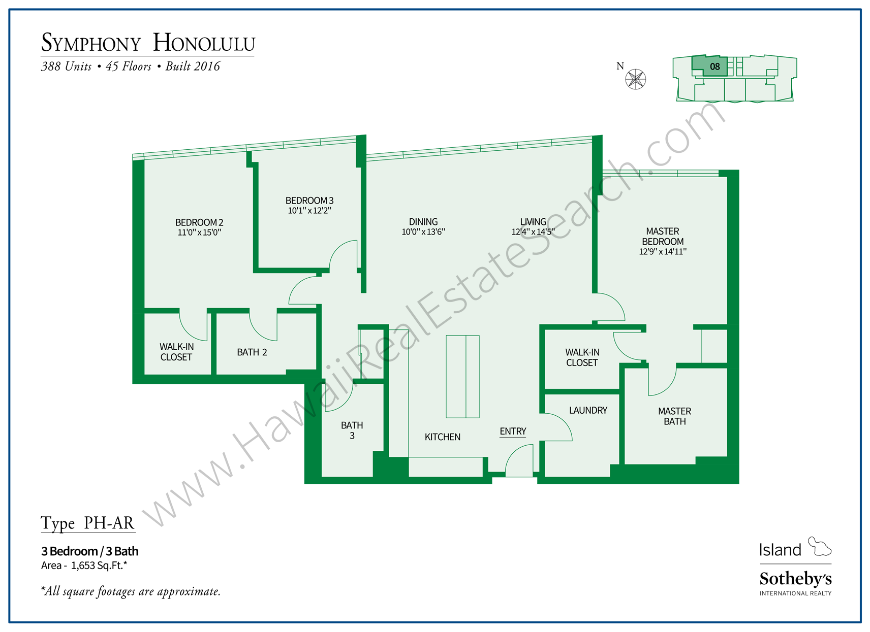 Symphony Honolulu Penthouse A Floor Plan