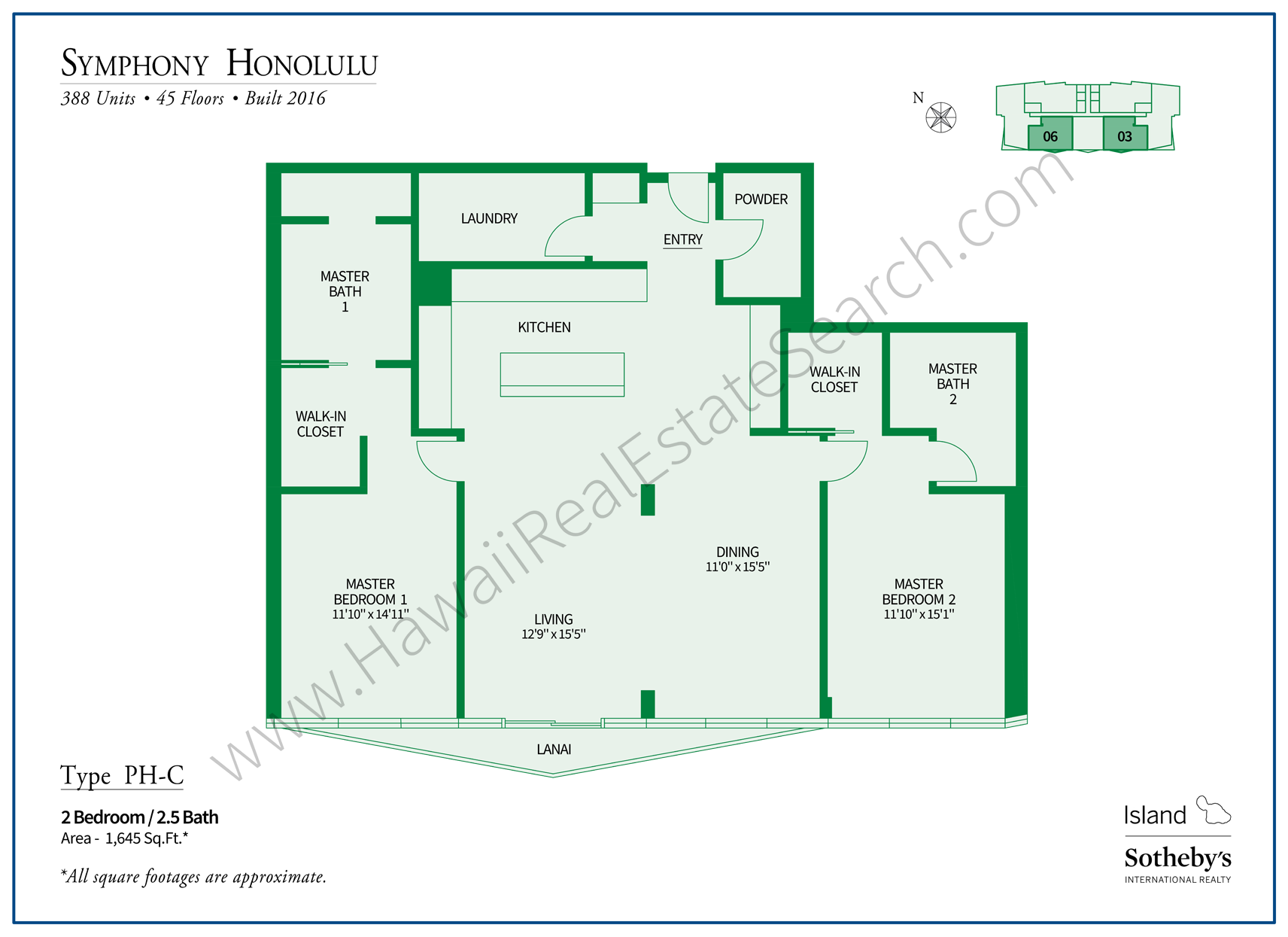 Symphony Honolulu Floor Plan Penthouse C