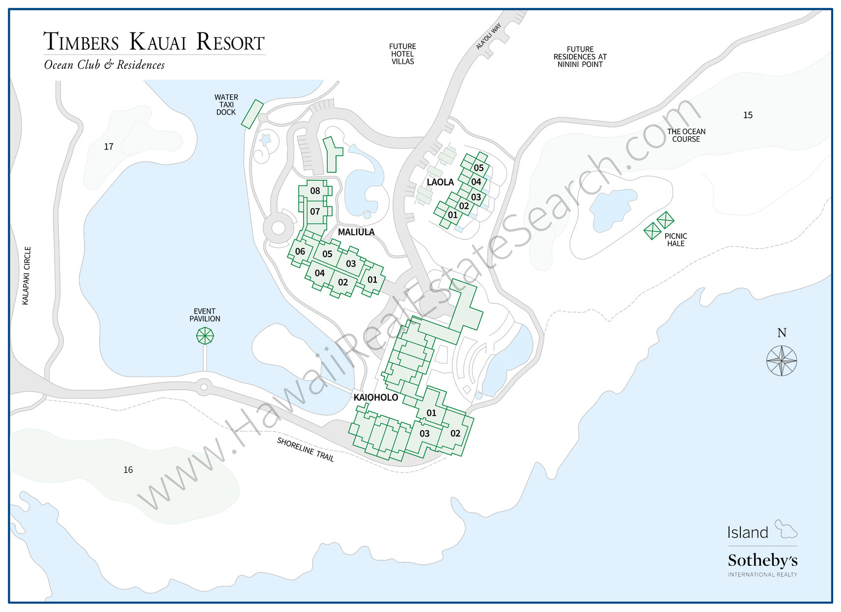 timbers kauai map 2018