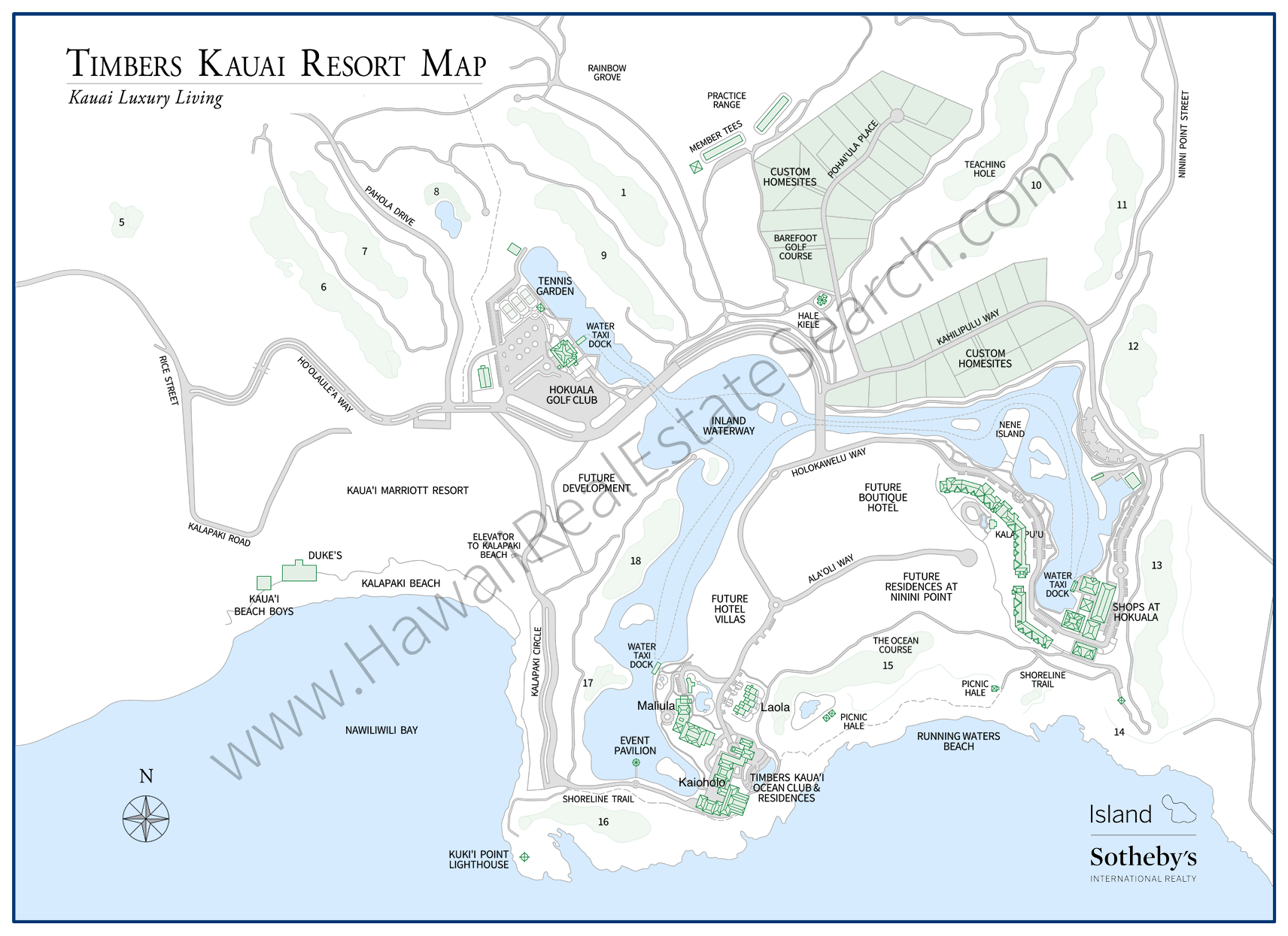 TK Resort Map 2018