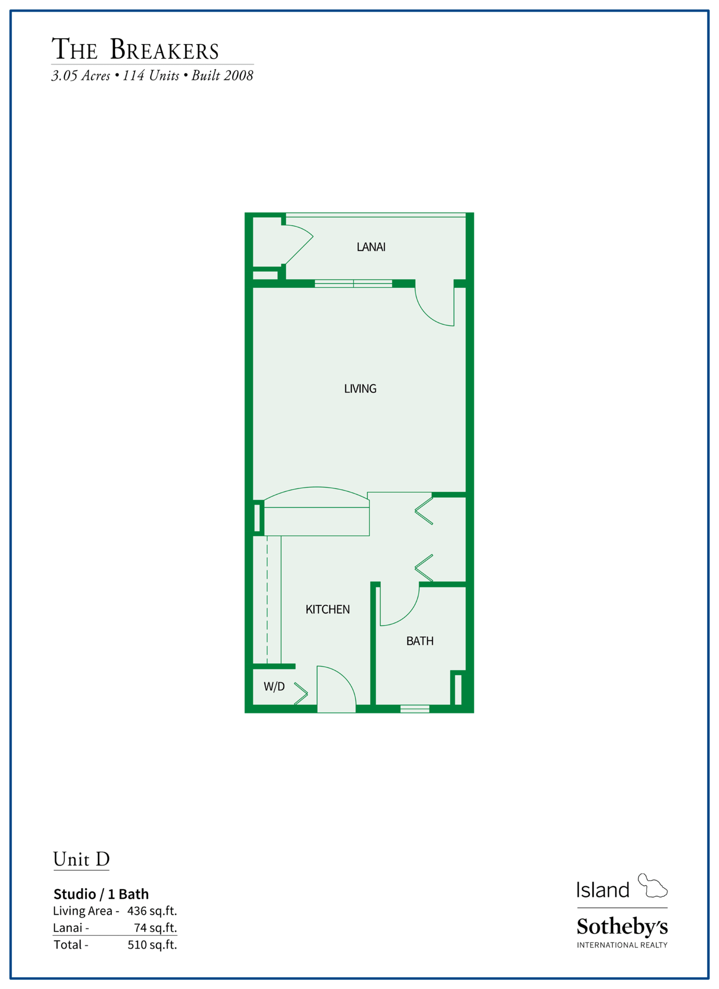 The Breakers Maui Floor Plan D