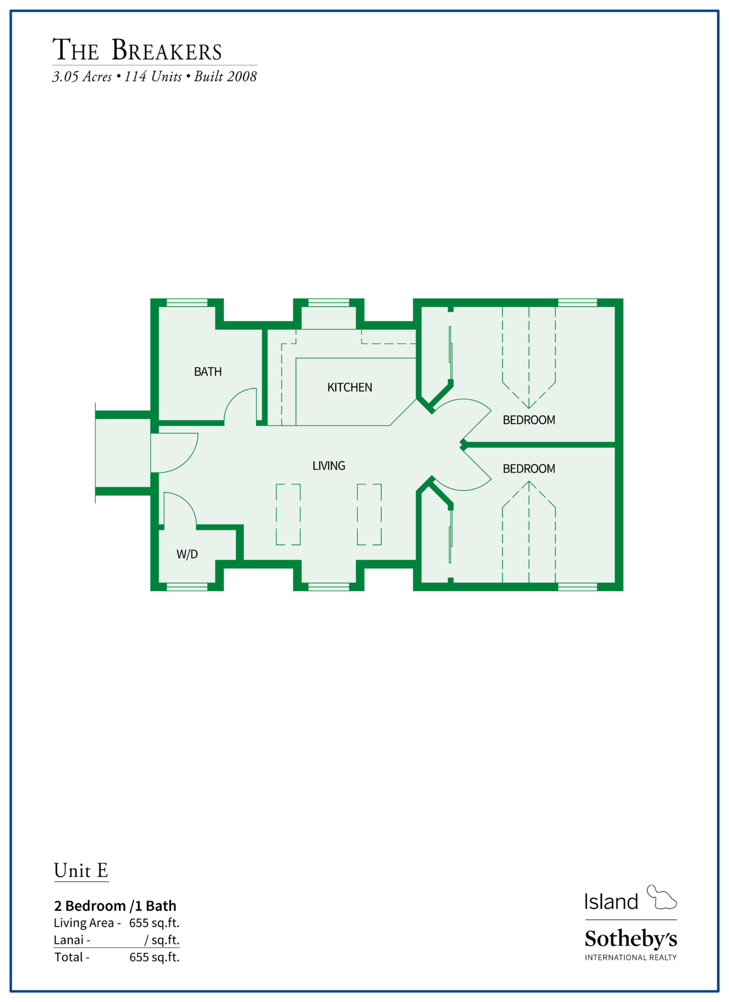 The Breakers Maui Floor Plan E