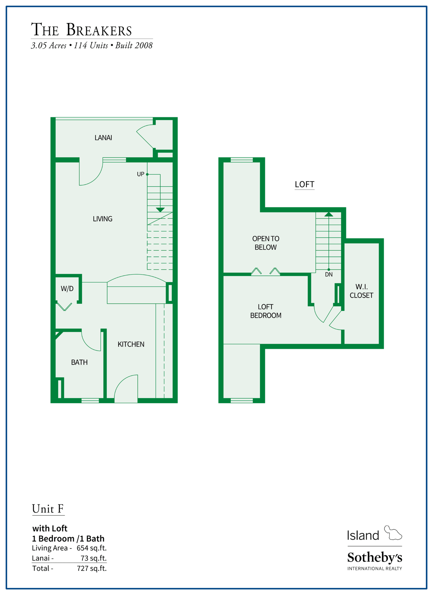 The Breakers Maui Floor Plan F
