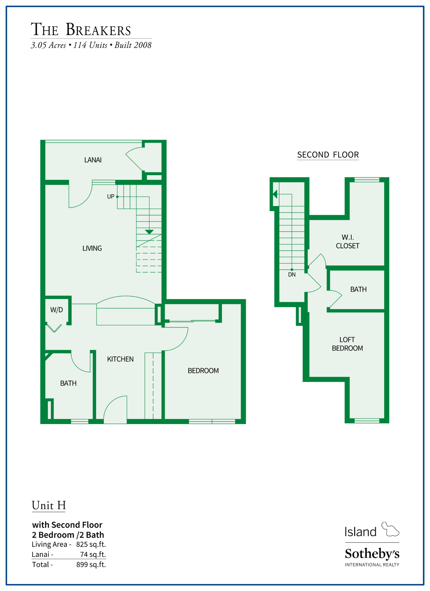 The Breakers Maui Floor Plan H