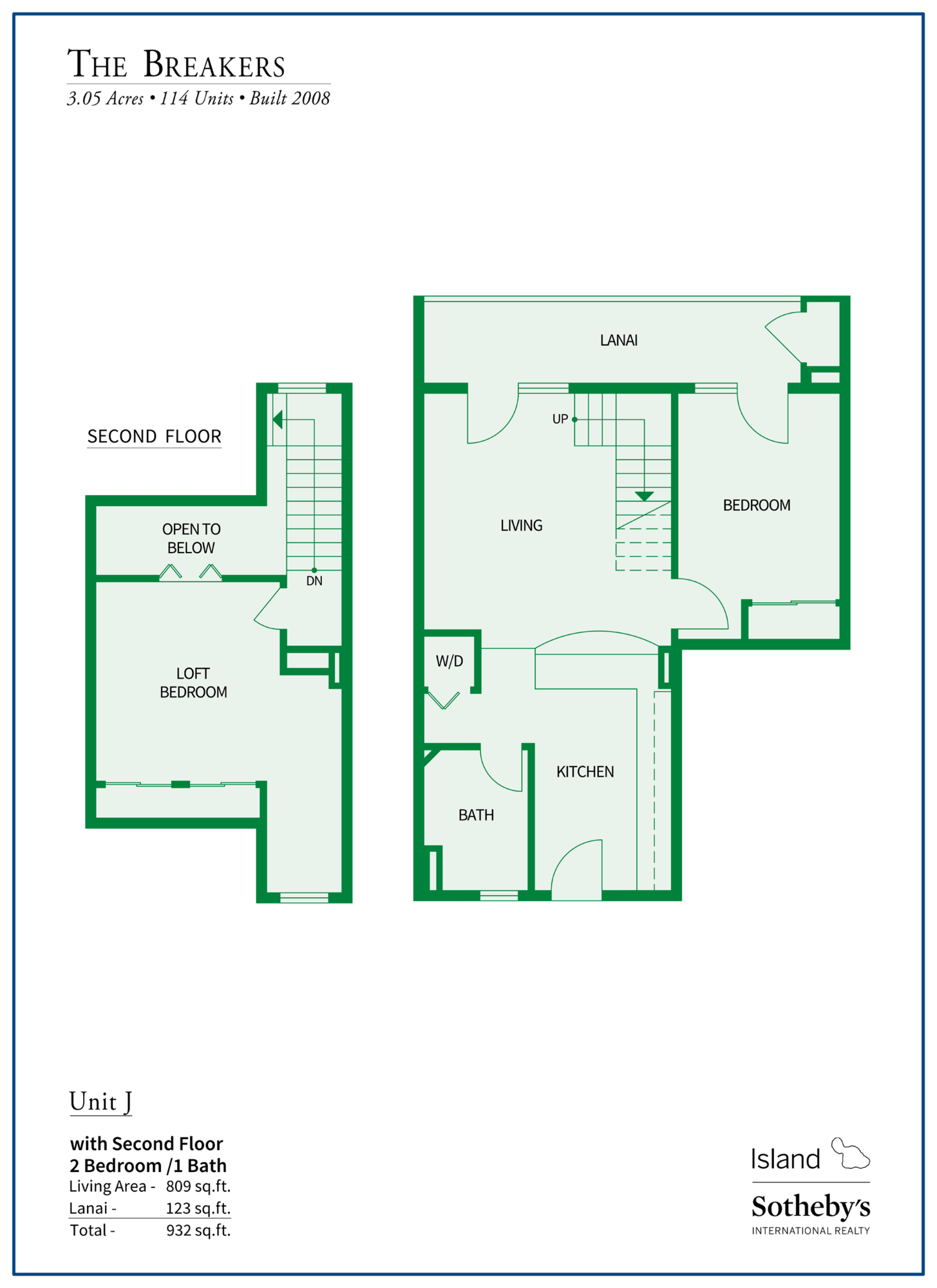 The Breakers Maui Floor Plan J