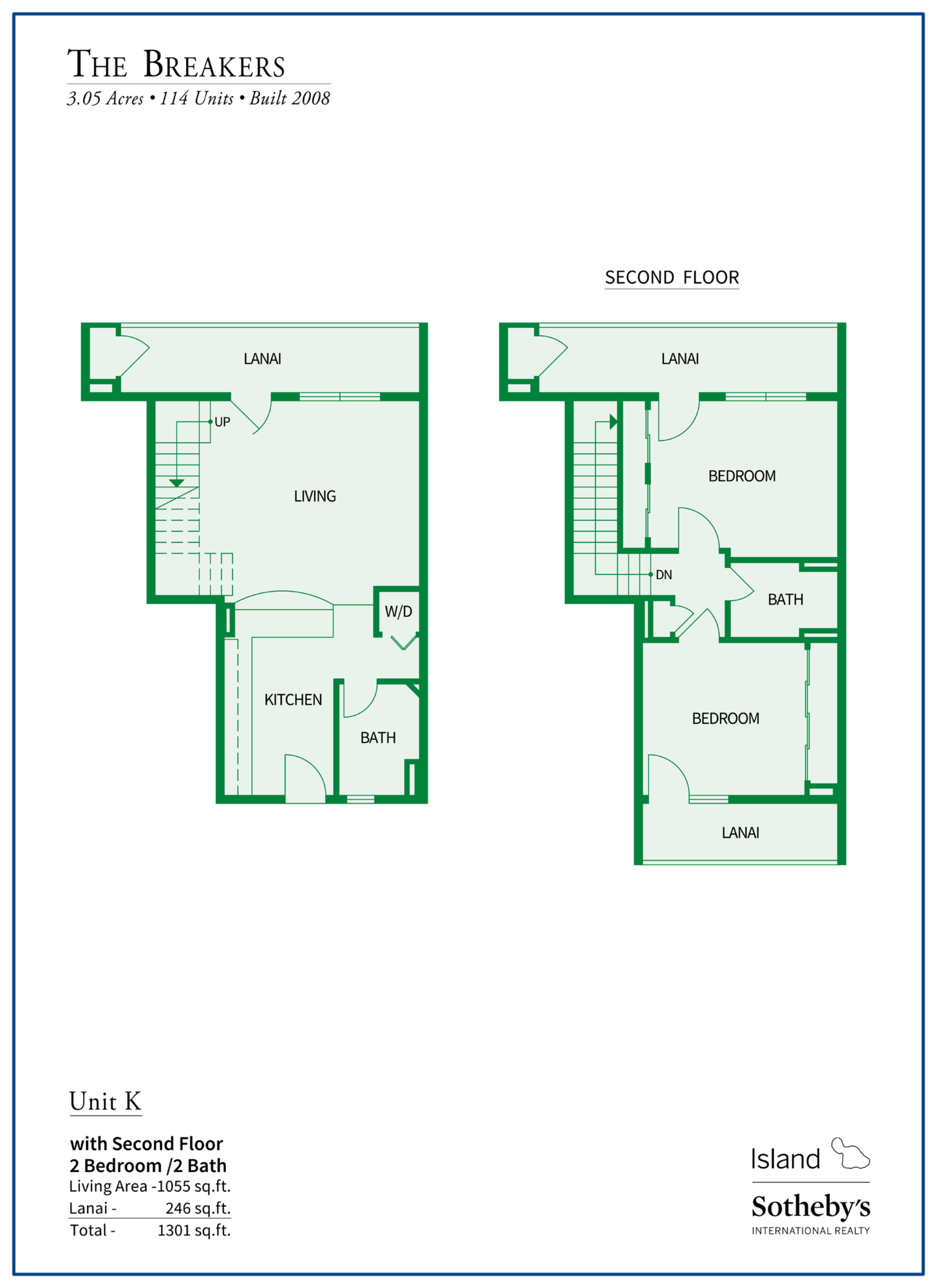 The Breakers Maui Floor Plan K