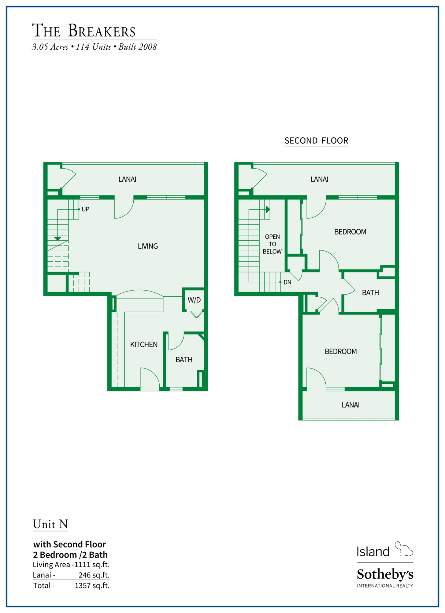 The Breakers Maui Floor Plan N