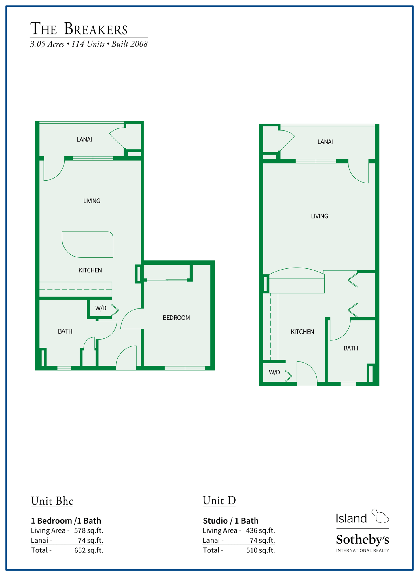 The Breakers Maui Floor Plan B reverse and C