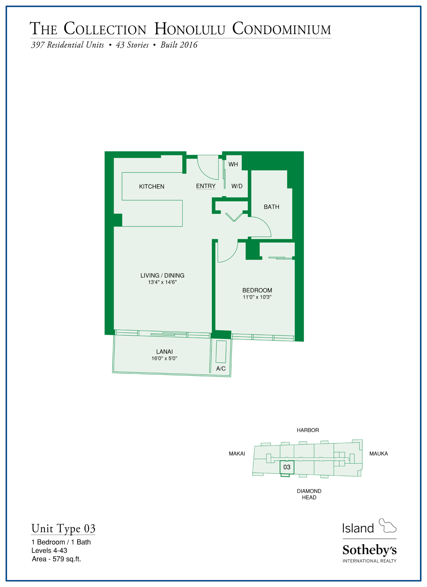kakaako the collection floorplan