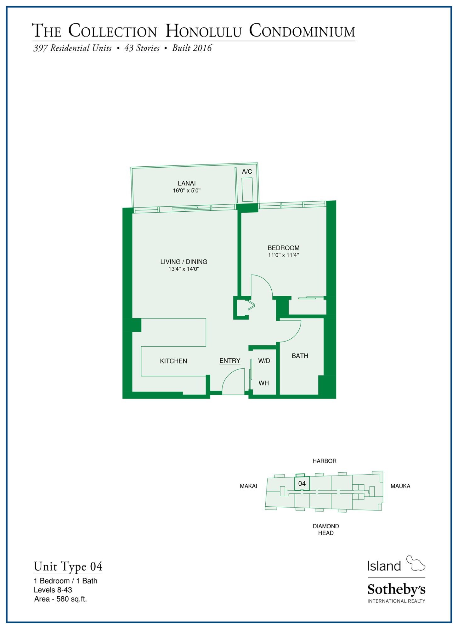 kakaako the collection floorplan oahu