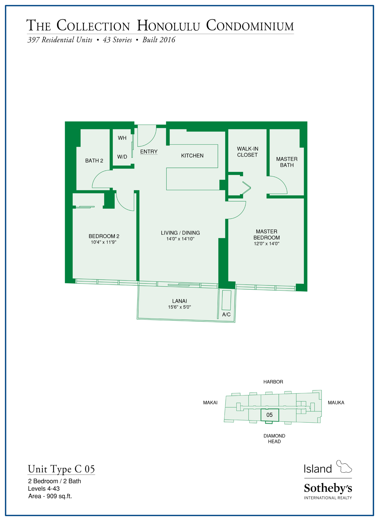 the collection floorplan honolulu