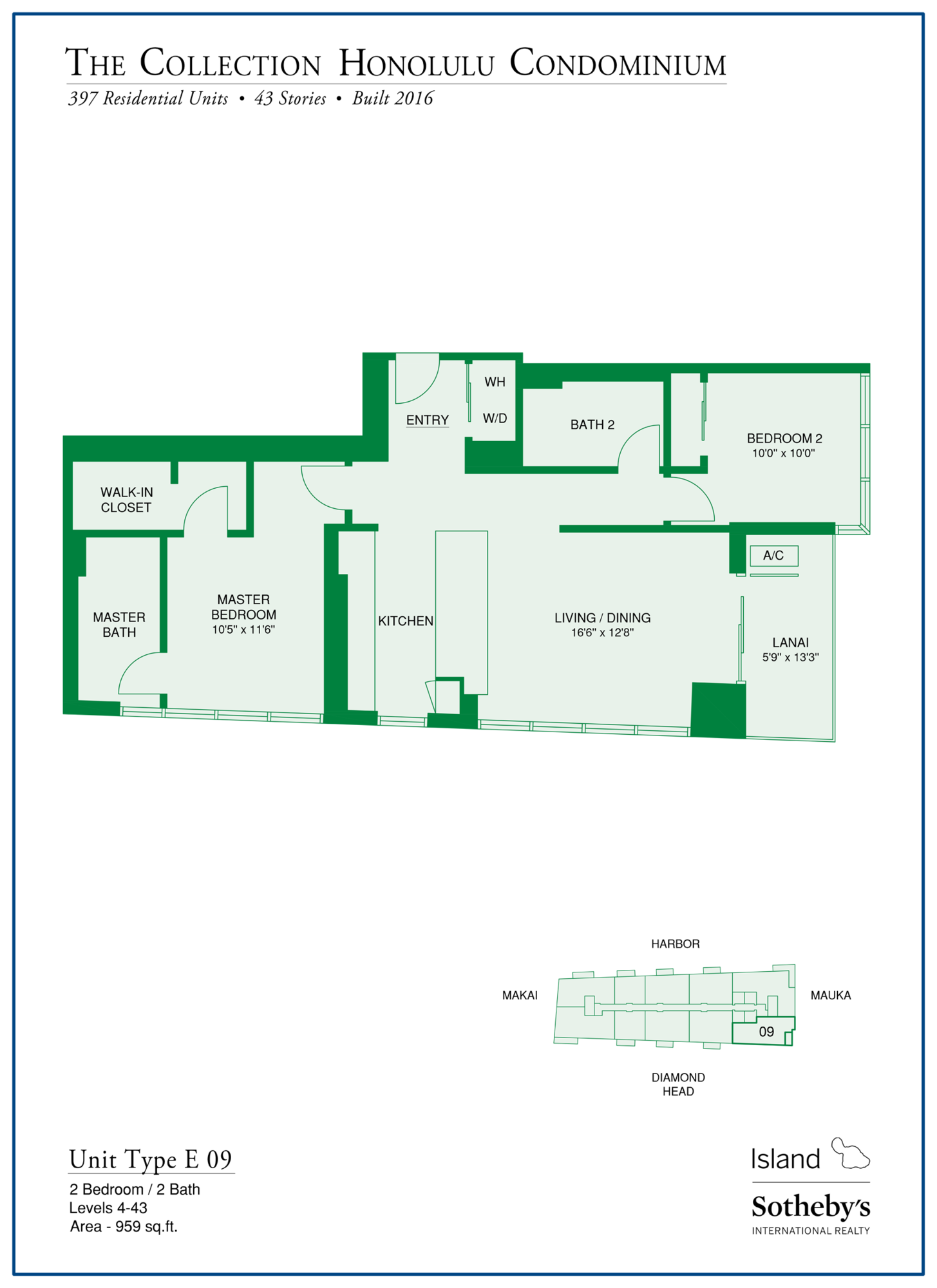 the collection floorplan kakaako