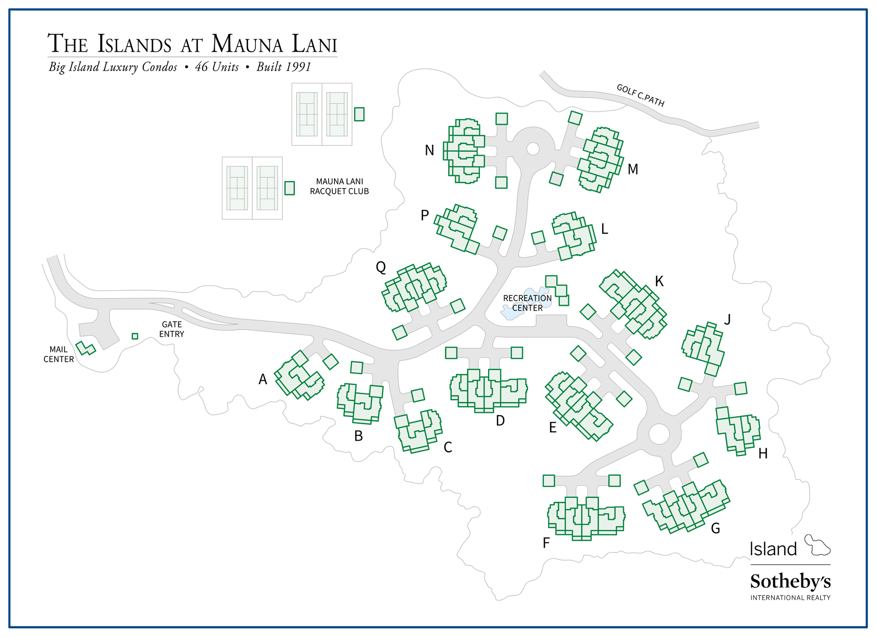 the islands at mauna lani map