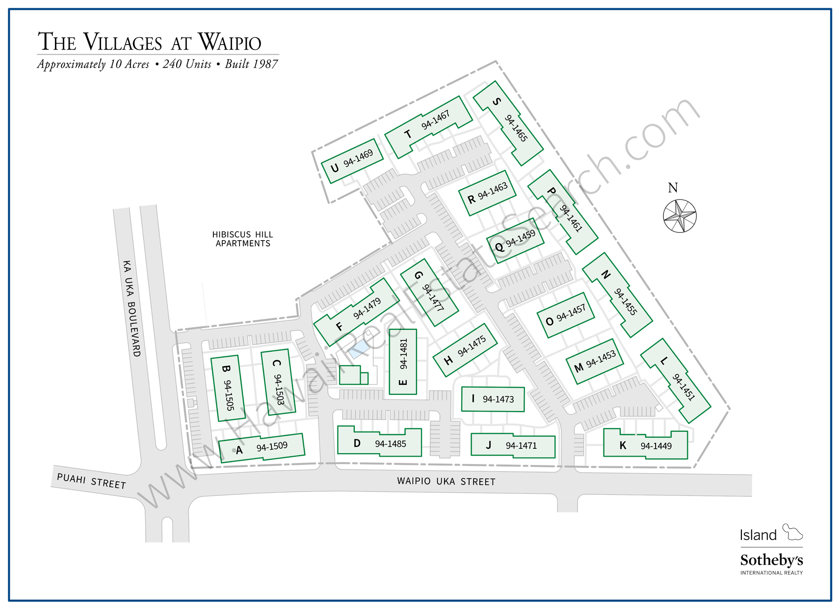 Villages at Waipio Property Map