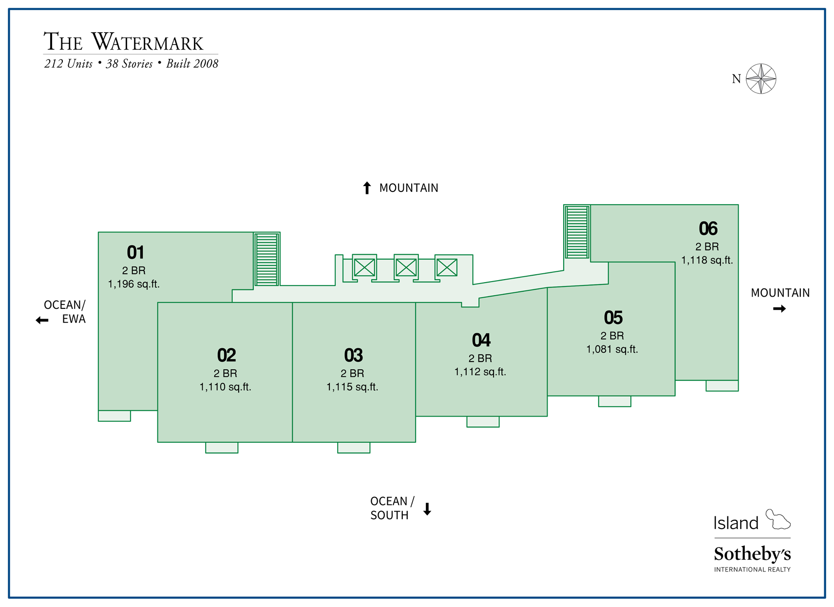 The Watermark Condo Map