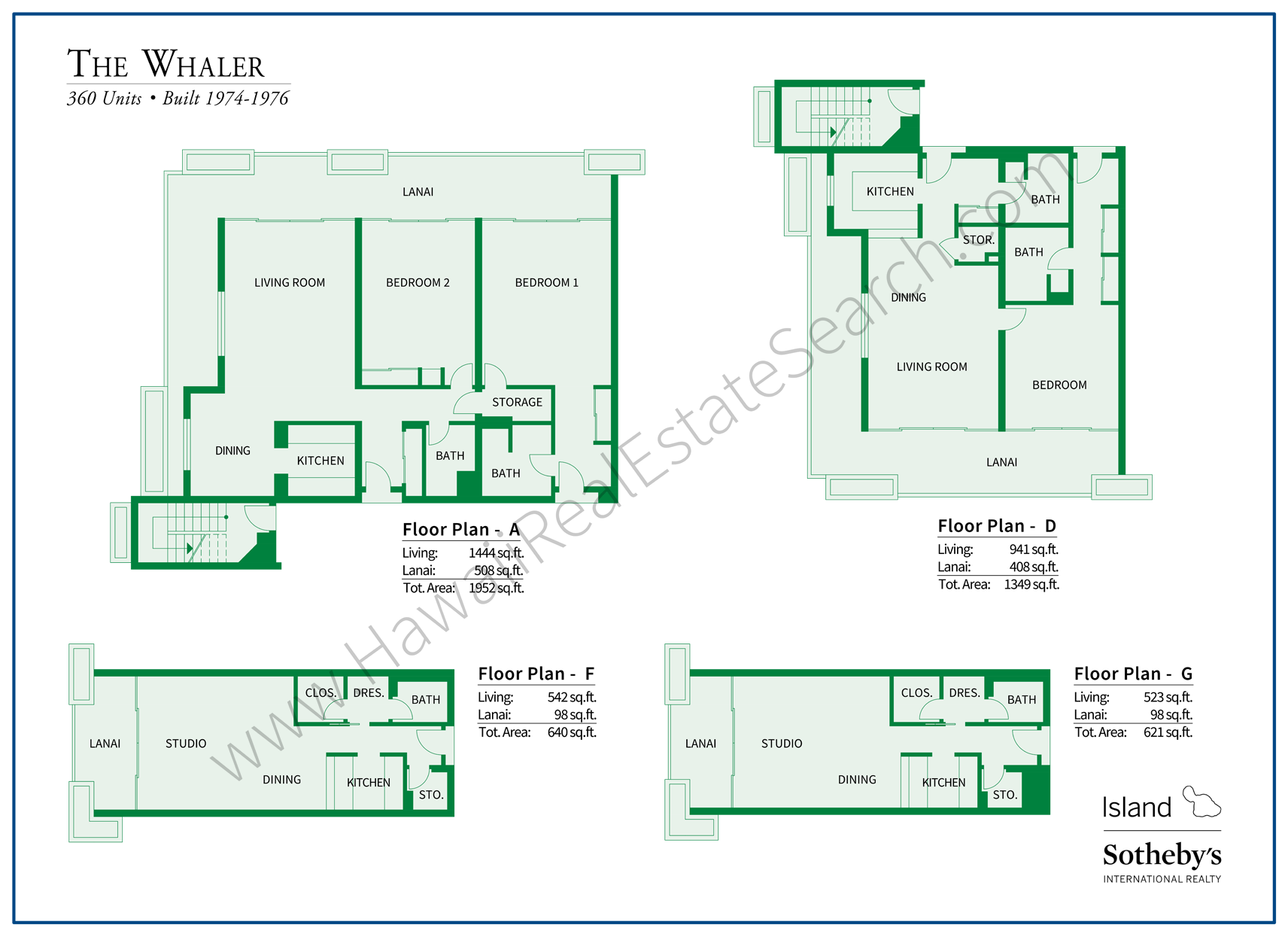 whaler floor plans kaanapali