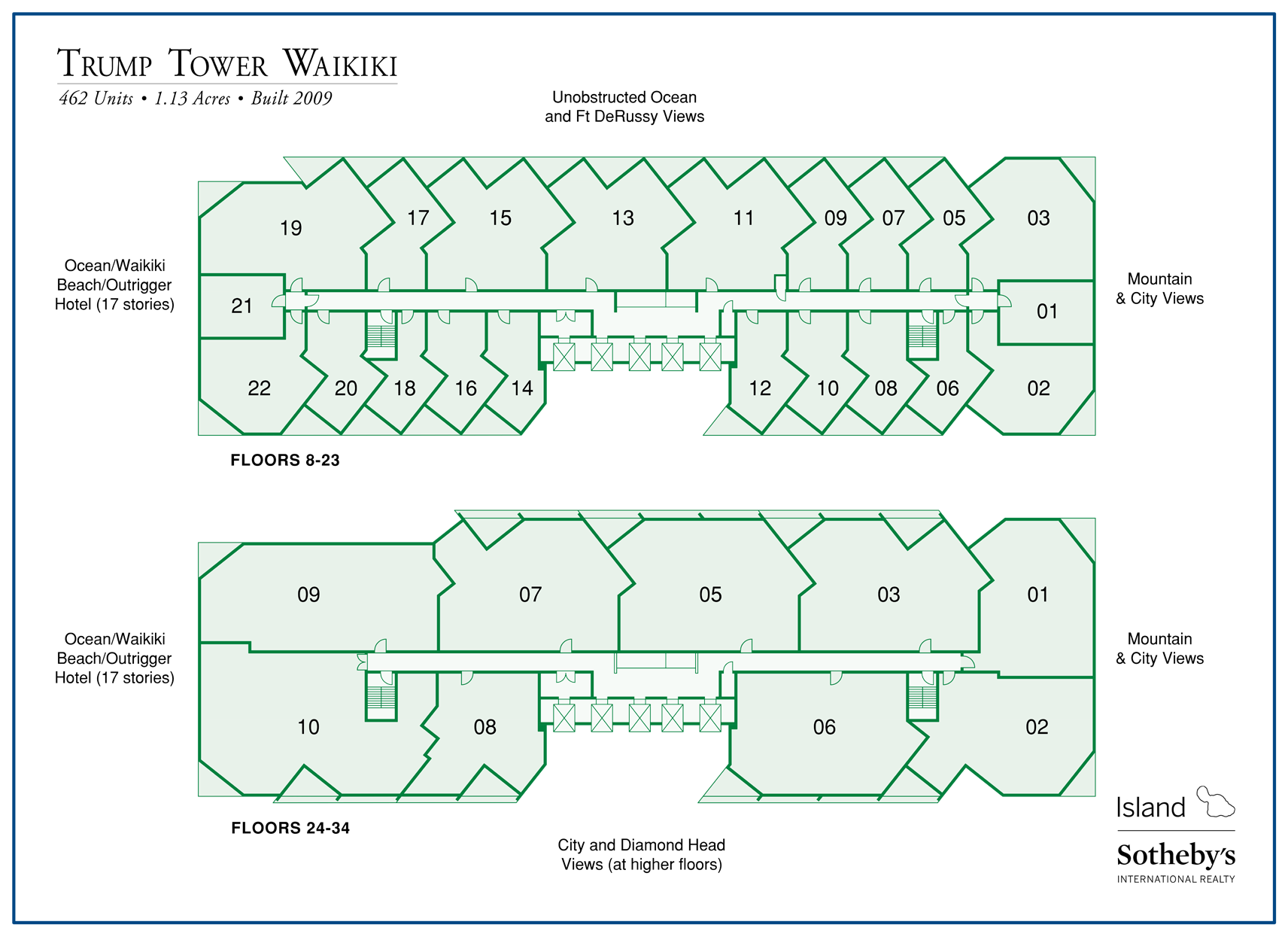 Trump Tower Waikiki map